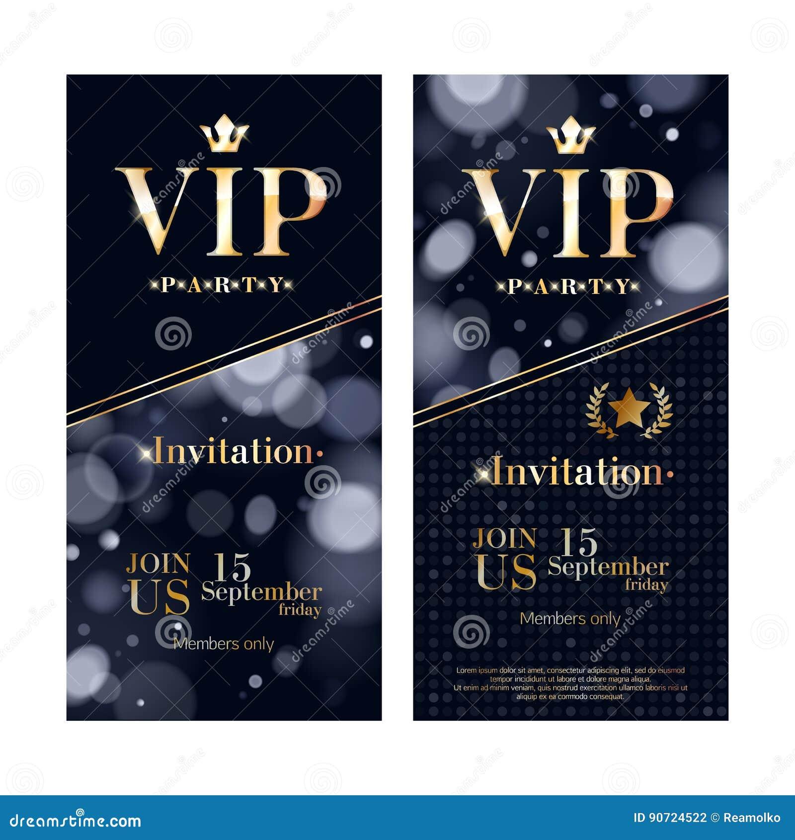 Πρότυπα σχεδίου ασφαλίστρου καρτών VIP πρόσκλησης καθορισμένα