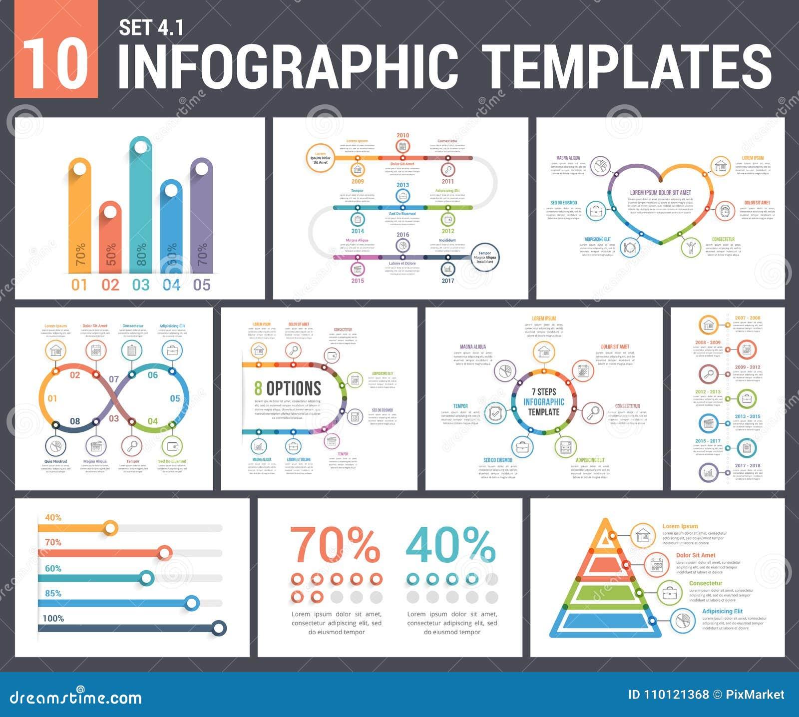 9 πρότυπα Infographic