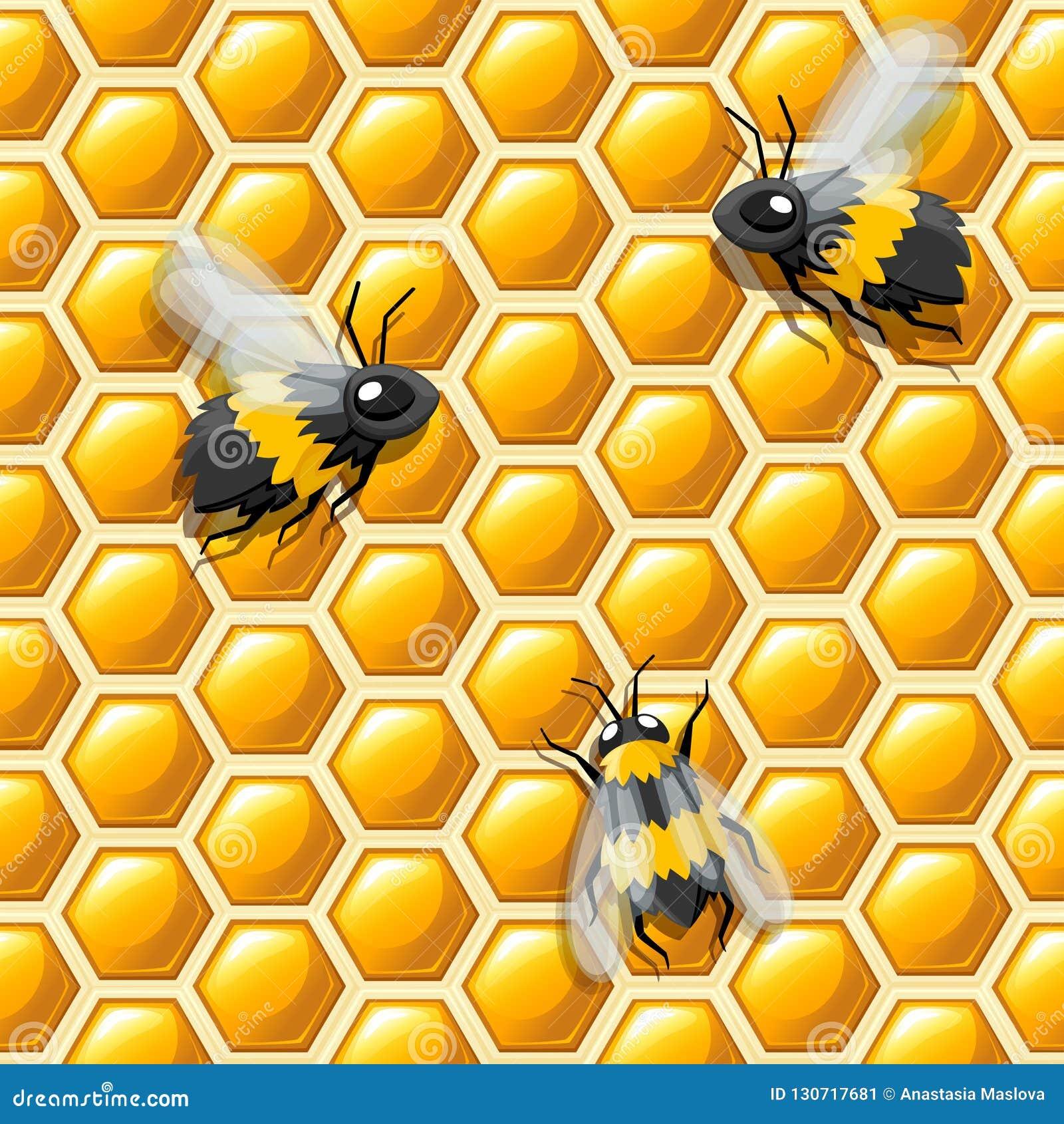 πρότυπο άνευ ραφής Κηρήθρα και επίπεδο ύφος μελισσών επίσης corel σύρετε το διάνυσμα απεικόνισης Ιατρικό αφηρημένο σχέδιο, φυσικό
