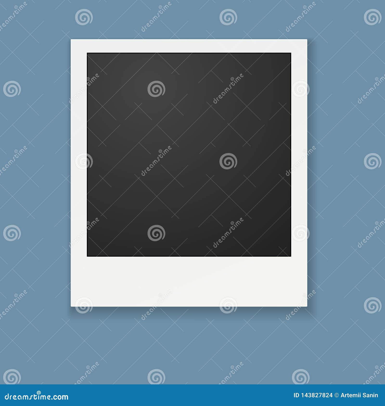 Πρότυπο για τη φωτογραφία, διάνυσμα πλαισίων Polaroid για το σχέδιο
