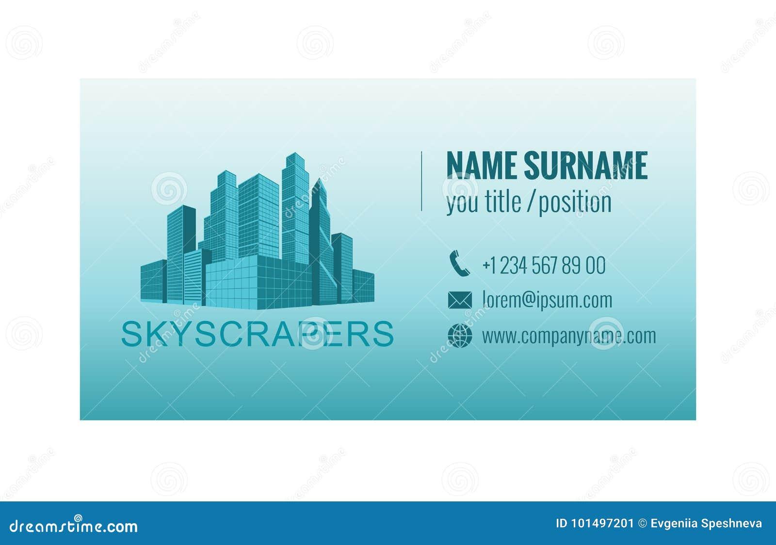 Πρότυπο επαγγελματικών καρτών για την αντιπροσωπεία ακίνητων περιουσιών διάνυσμα προτύπων επιχειρησιακής εταιρικό ταυτότητας έργω
