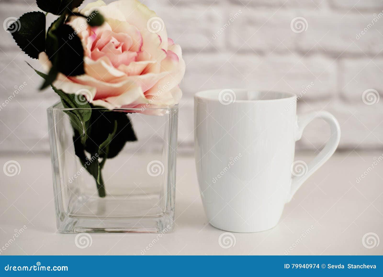 Πρότυπο κουπών Πρότυπο φλυτζανιών καφέ Πρότυπο σχεδίου εκτύπωσης κουπών καφέ Άσπρο πρότυπο κουπών κενή κούπα Ορισμένο πρότυπο από