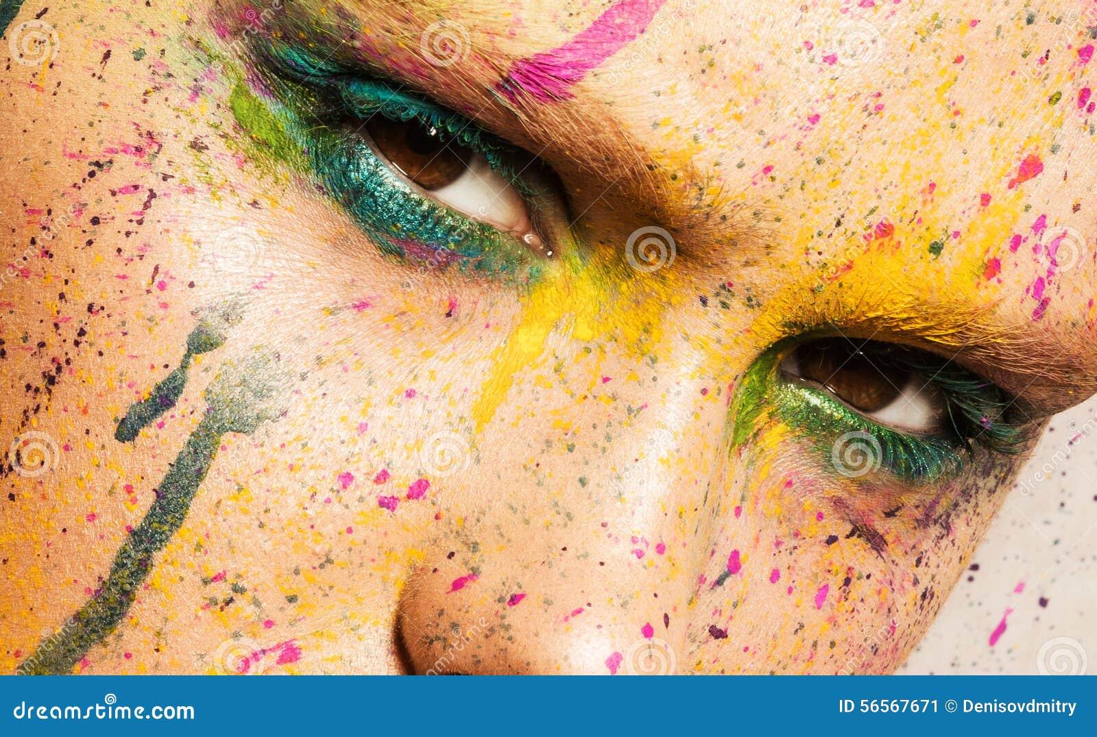 Download Πρότυπο με το δημιουργικό Makeup Στοκ Εικόνα - εικόνα από makeup, δημιουργικός: 56567671