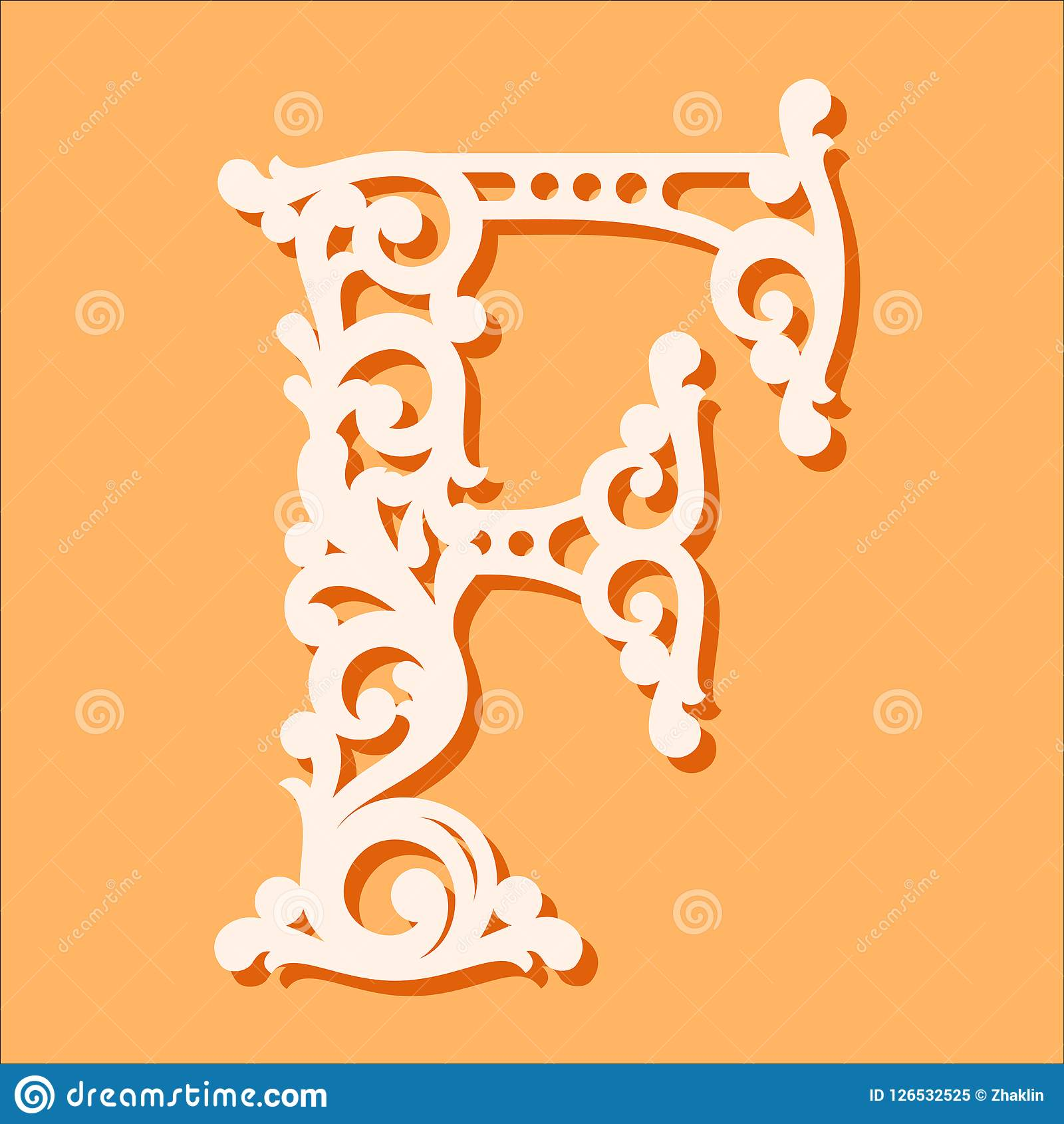 Πρότυπο περικοπών λέιζερ Αρχικές επιστολές μονογραμμάτων Φανταχτερή floral επιστολή αλφάβητου