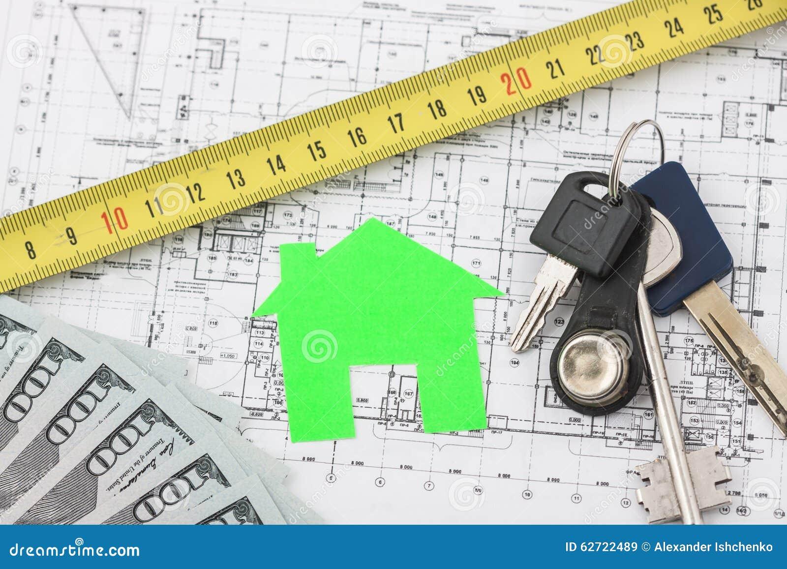 Πρότυπο σπίτι στο σχέδιο κατασκευής