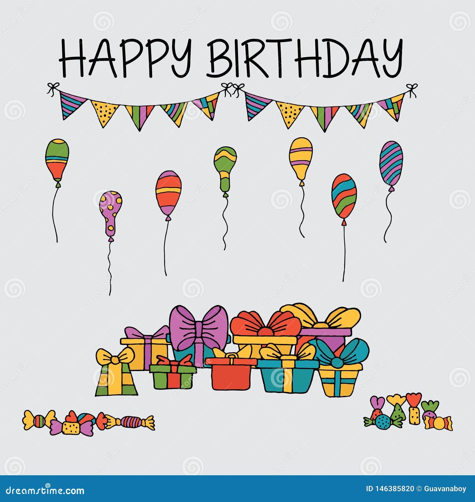 Πρότυπο συνόλων καρτών πρόσκλησης γενεθλίων