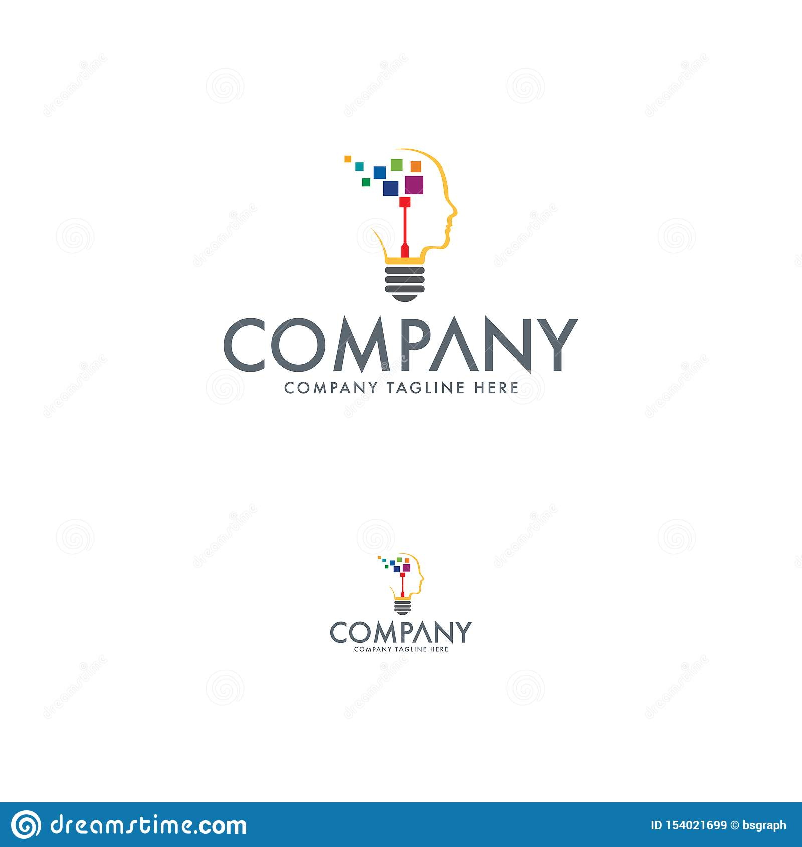 Πρότυπο σχεδίου λογότυπων ιδέας τεχνολογίας