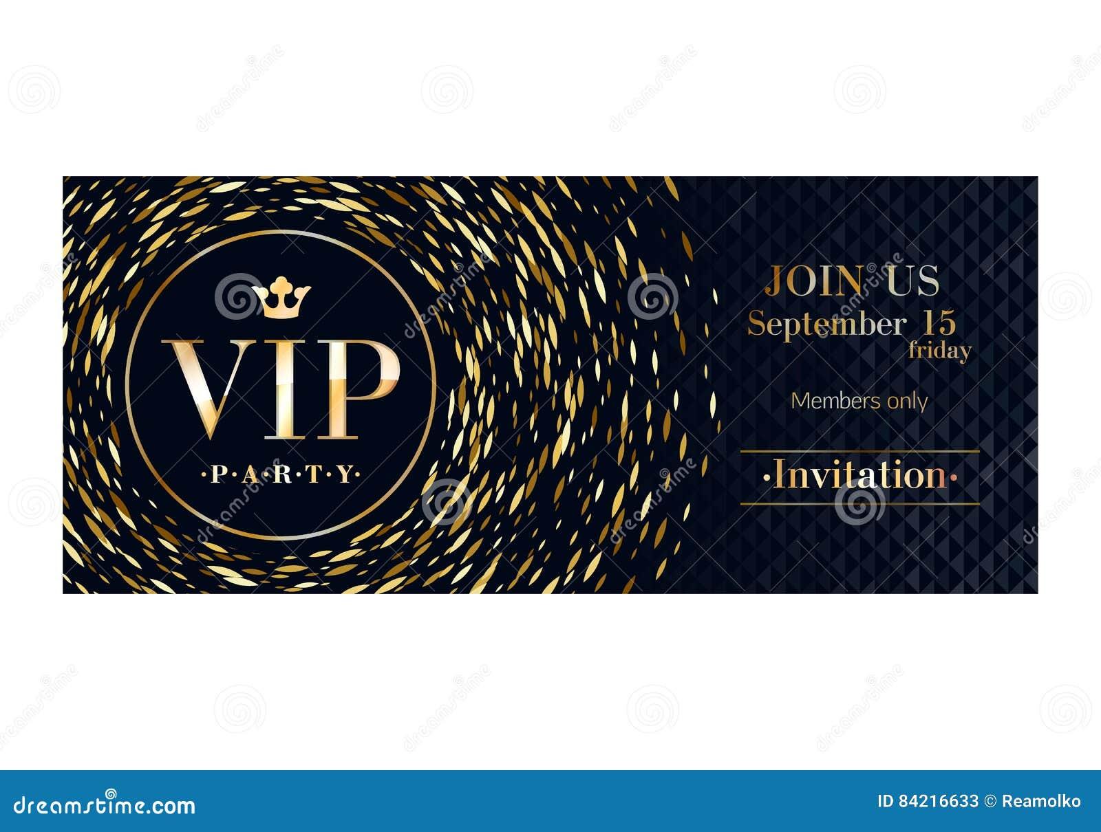 Πρότυπο σχεδίου ασφαλίστρου καρτών VIP πρόσκλησης