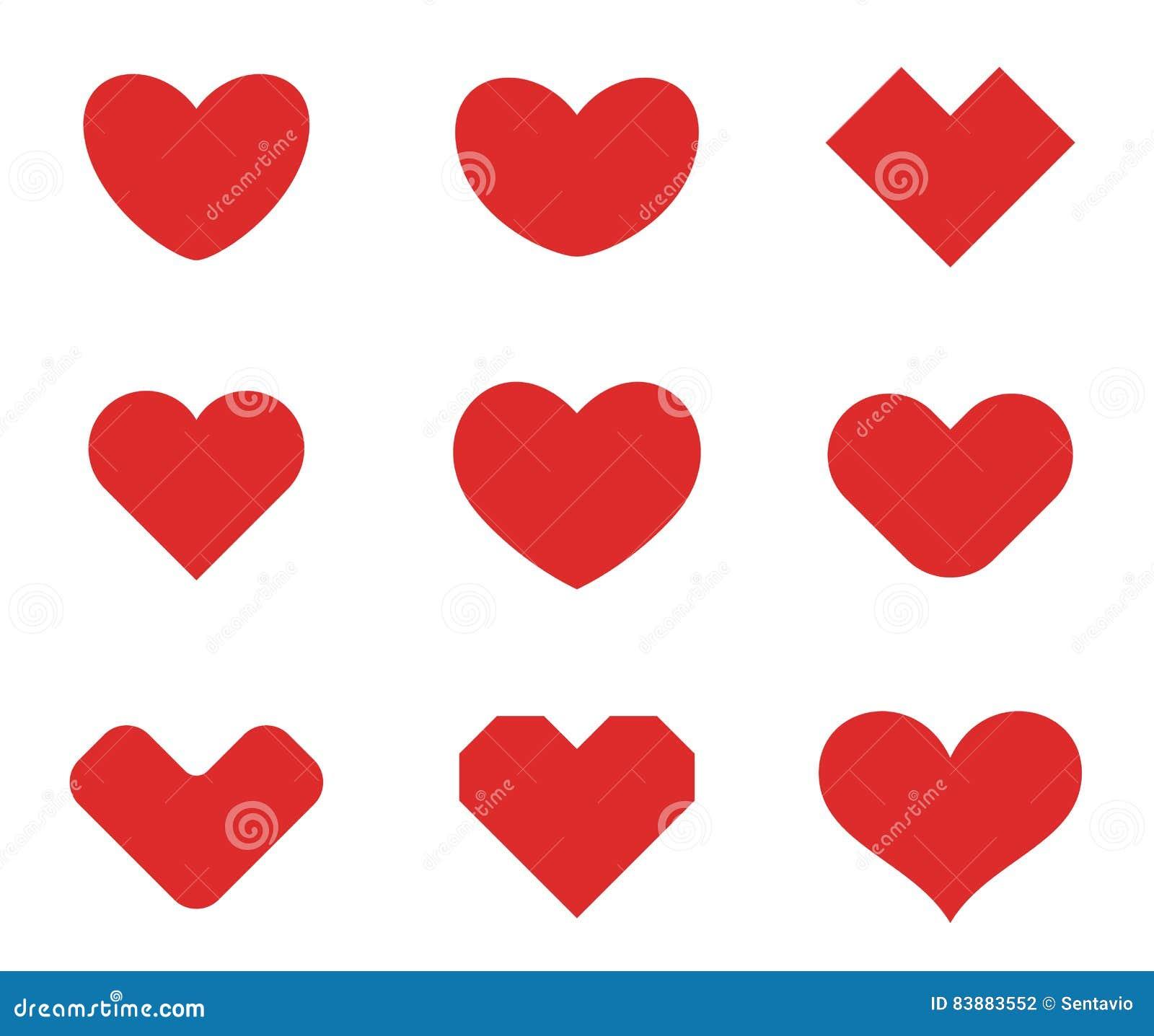 Πρότυπο σχεδίου συλλογής μορφών καρδιών Ημέρα βαλεντίνων του ST της αγάπης Ιατρικά εικονίδια έννοιας Logotype υγειονομικής περίθα