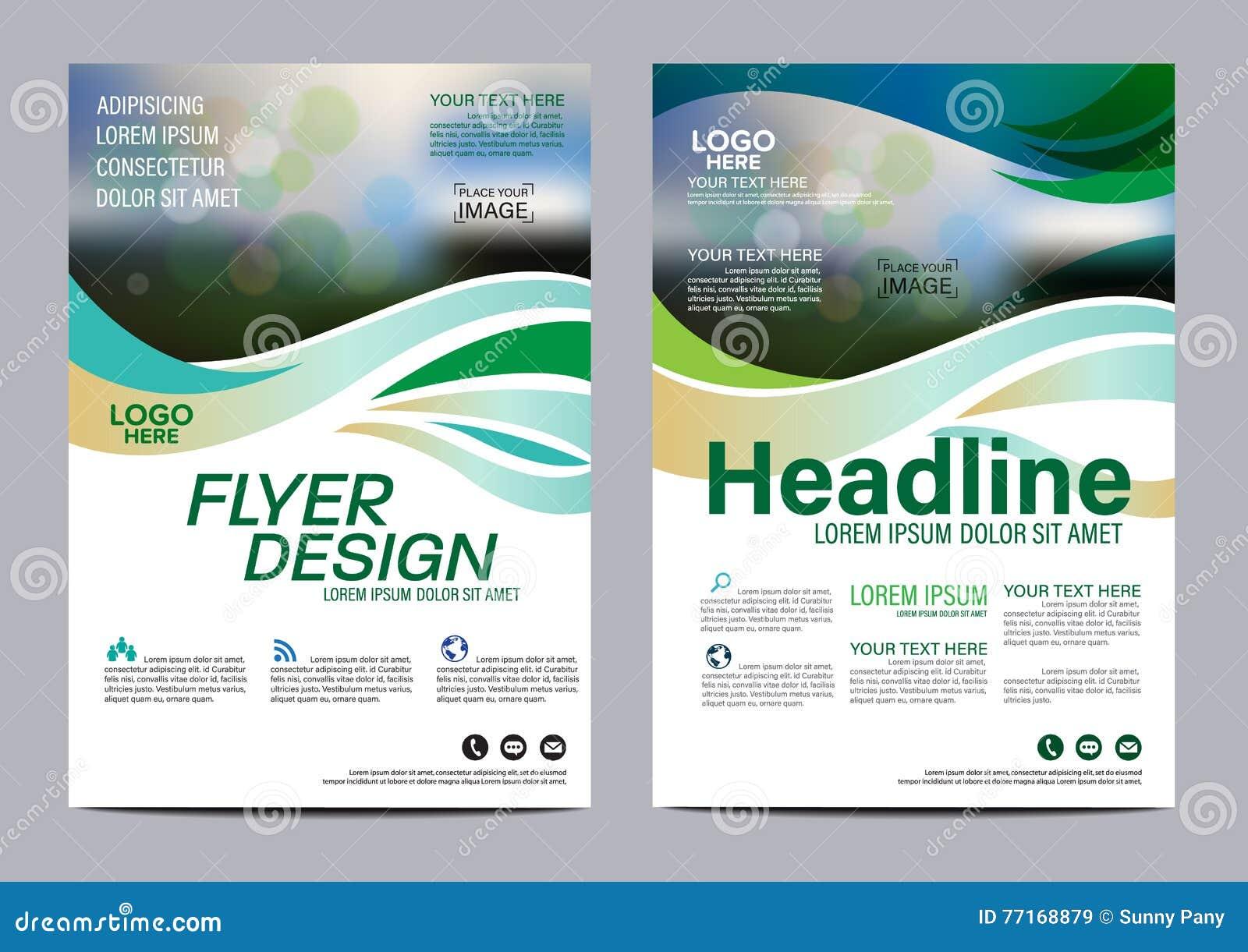 Πρότυπο σχεδίου σχεδιαγράμματος φυλλάδιων Σύγχρονο υπόβαθρο παρουσίασης κάλυψης φυλλάδιων ιπτάμενων ετήσια εκθέσεων διάνυσμα απει