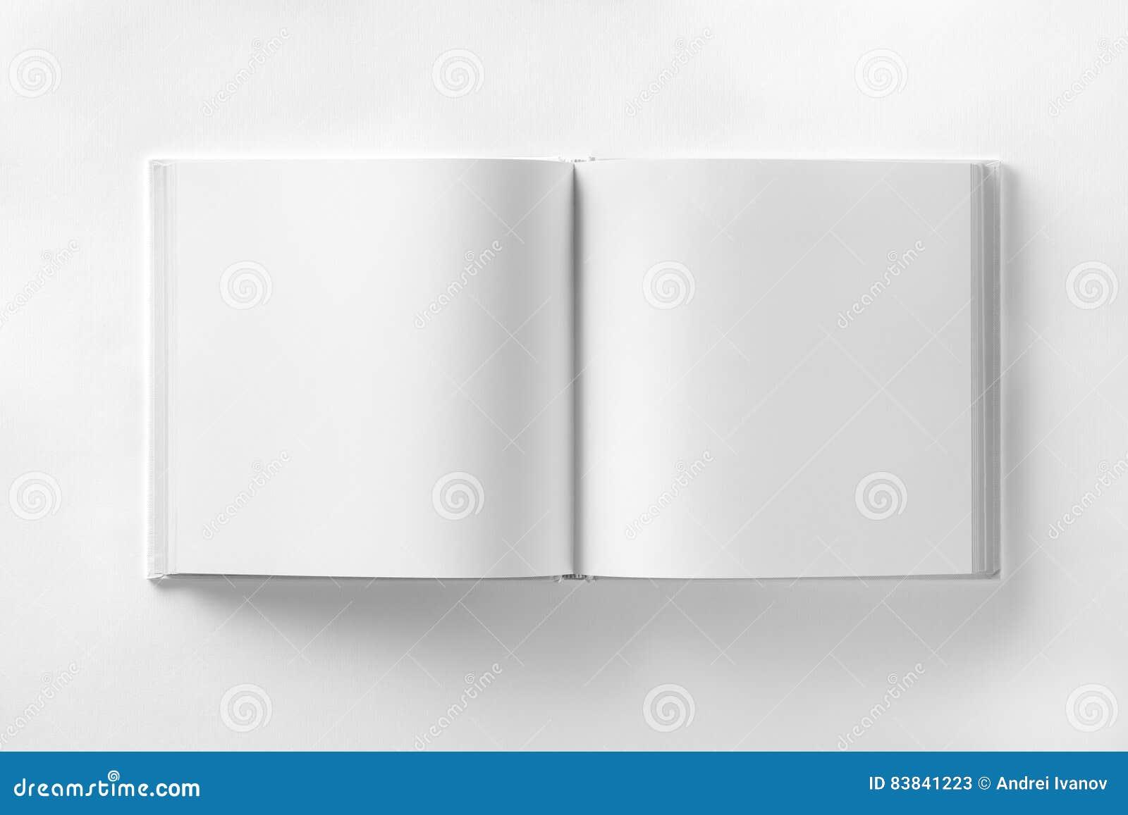 Πρότυπο του ανοιγμένου κενού τετραγωνικού ctalogue στη λευκιά ΤΣΕ εγγράφου σχεδίου