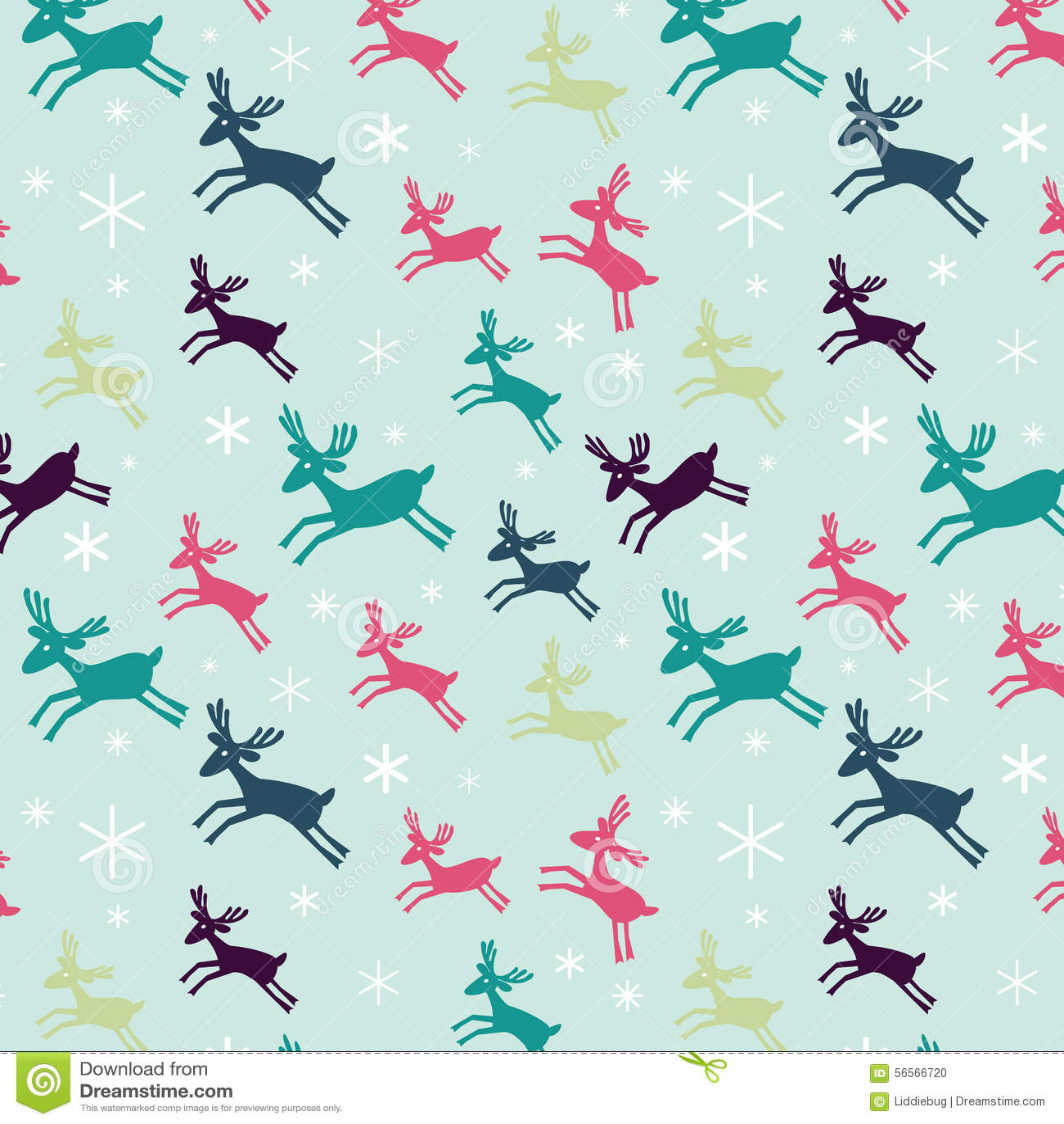Download πρότυπο deers άνευ ραφής διανυσματική απεικόνιση. εικονογραφία από χρώμα - 56566720