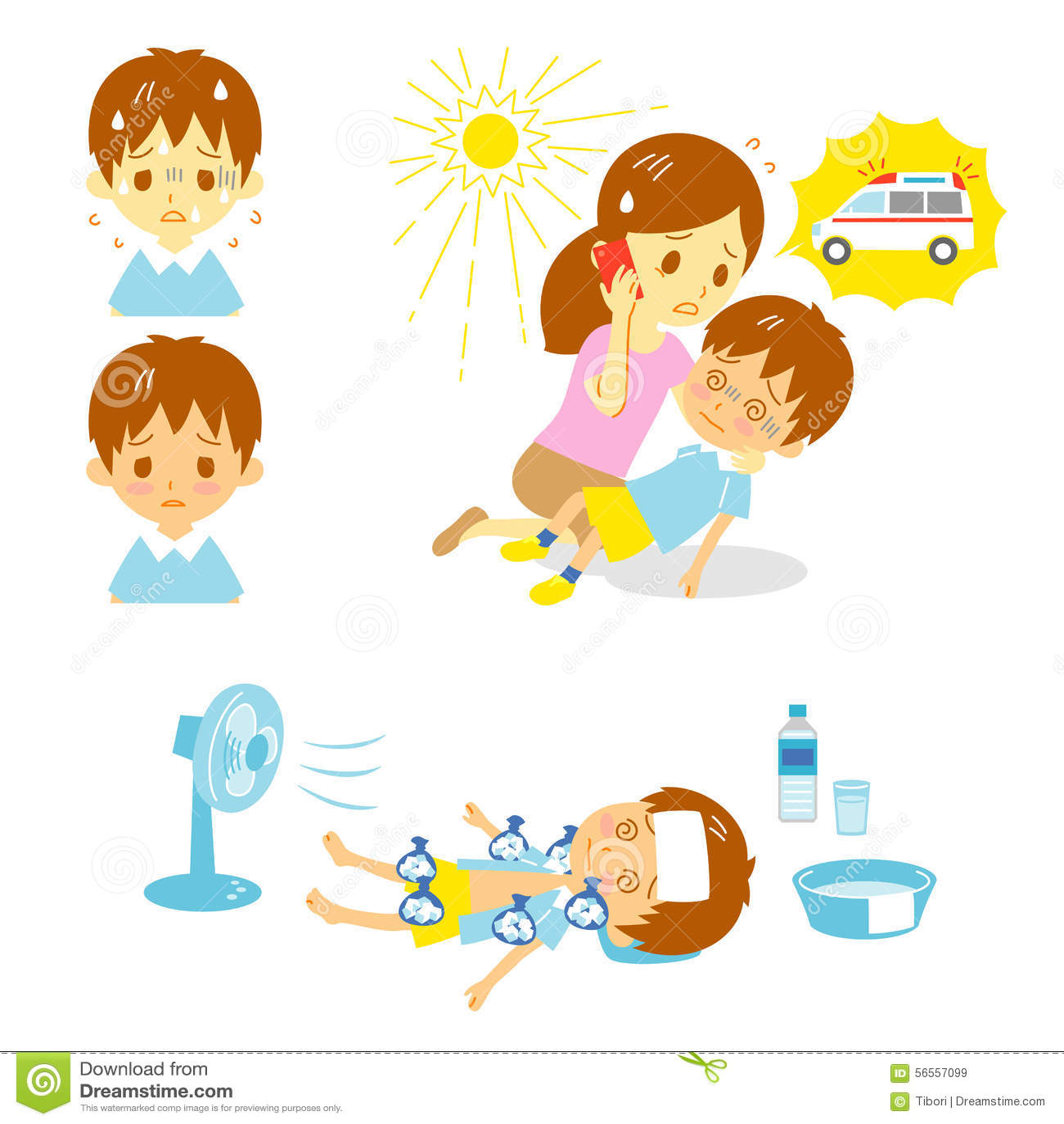 Download Πρώτες βοήθειες ασθενοφόρων θερμοπληξίας Διανυσματική απεικόνιση - εικονογραφία από ίλιγγος, πρώτα: 56557099
