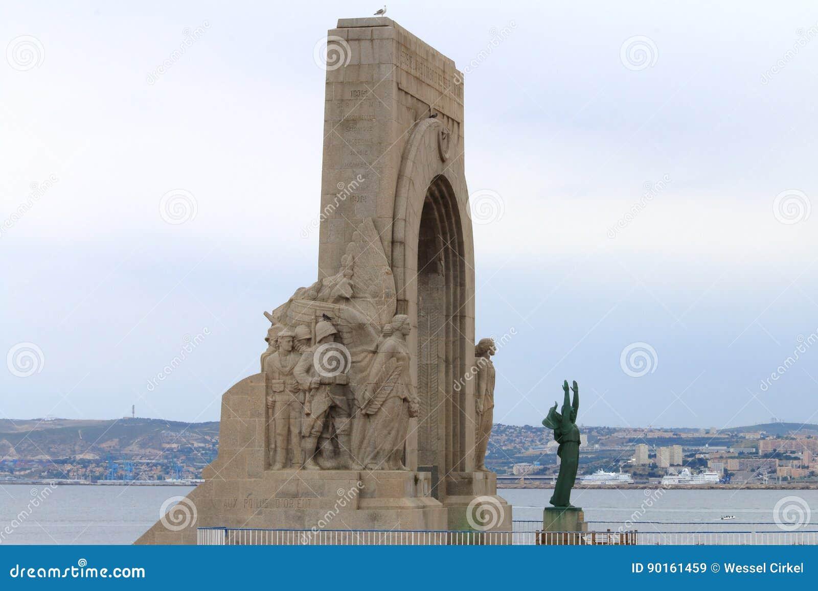 Πρώτο μνημείο παγκόσμιου πολέμου Vallon des Auffes κοντά στη Μασσαλία