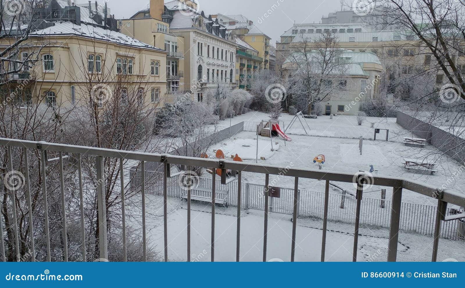 πρώτο χιόνι 2016 της Βιέννης