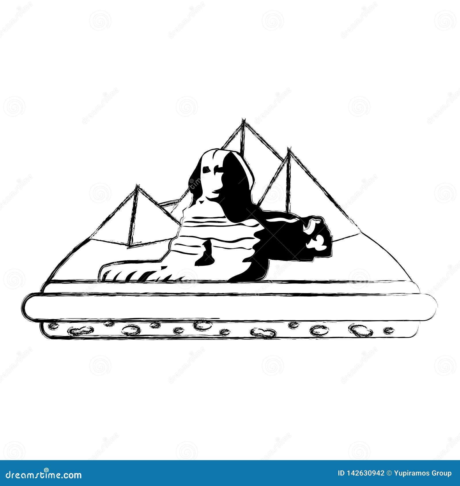 Πυραμίδες αρχιτεκτονικής γλυπτών της Αιγύπτου giza Grunge