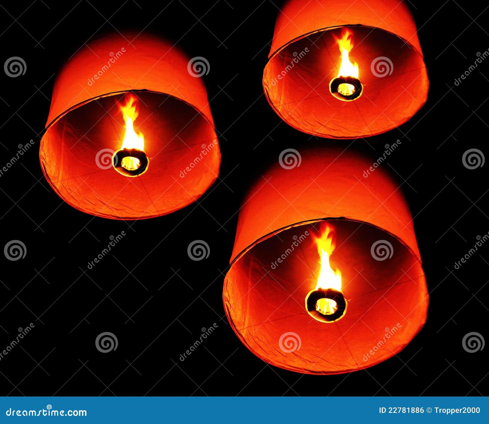 πυρκαγιά Ταϊλανδός μπαλονιών