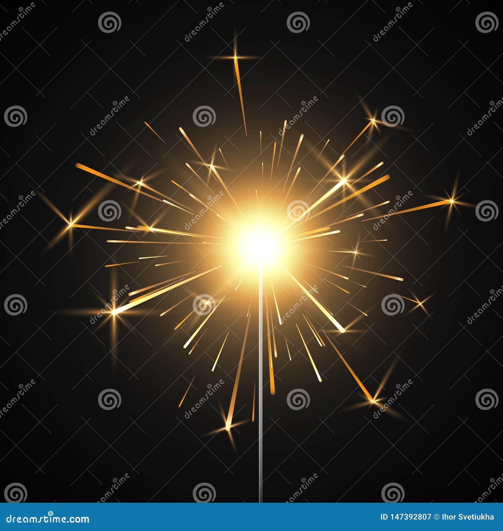 Πυρκαγιά της Βεγγάλης Καίγοντας λαμπρό πυροτέχνημα sparkler Ρεαλιστική ελαφριά επίδραση Στοιχείο ντεκόρ κόμματος r