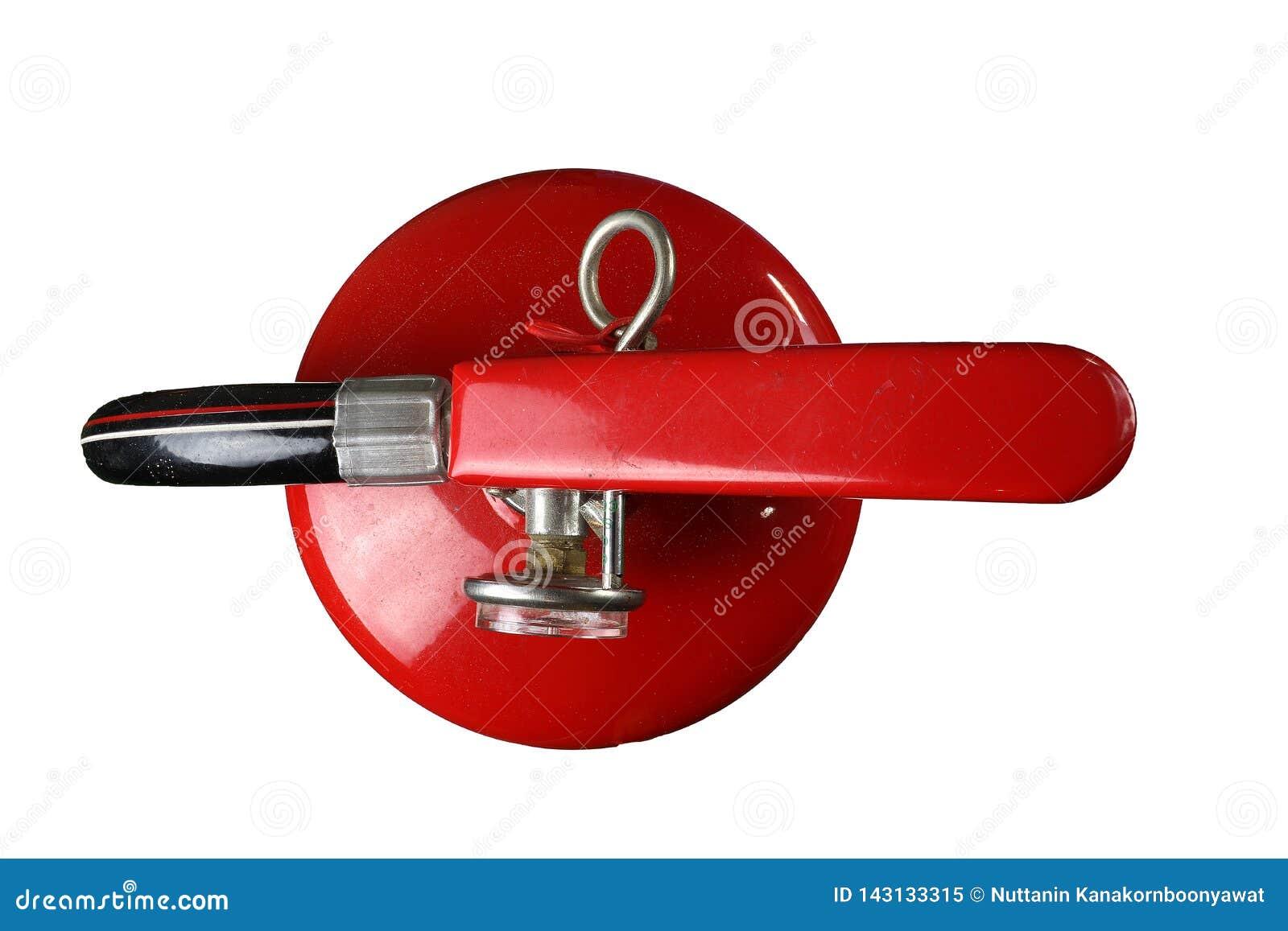Πυροσβεστήρας, πυρασφάλεια, βρώμικος πυροσβεστήρας που απομονώνεται στο άσπρο υπόβαθρο