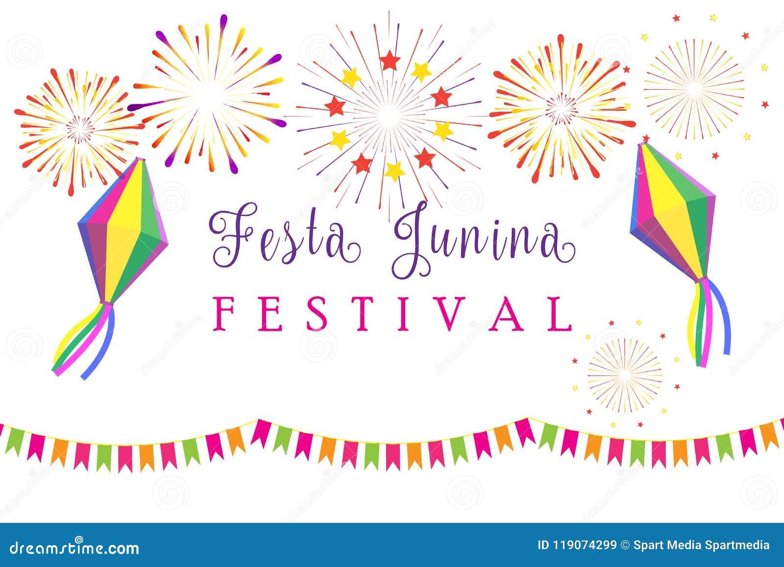 Πυροτεχνήματα θερινού φεστιβάλ καρναβαλιού Festa Junina