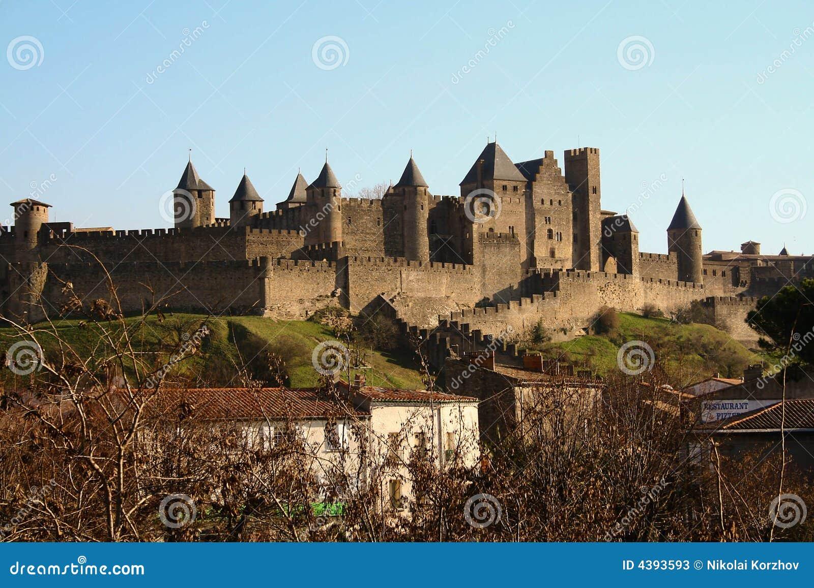 πόλη Γαλλία του Carcassonne παλαιά