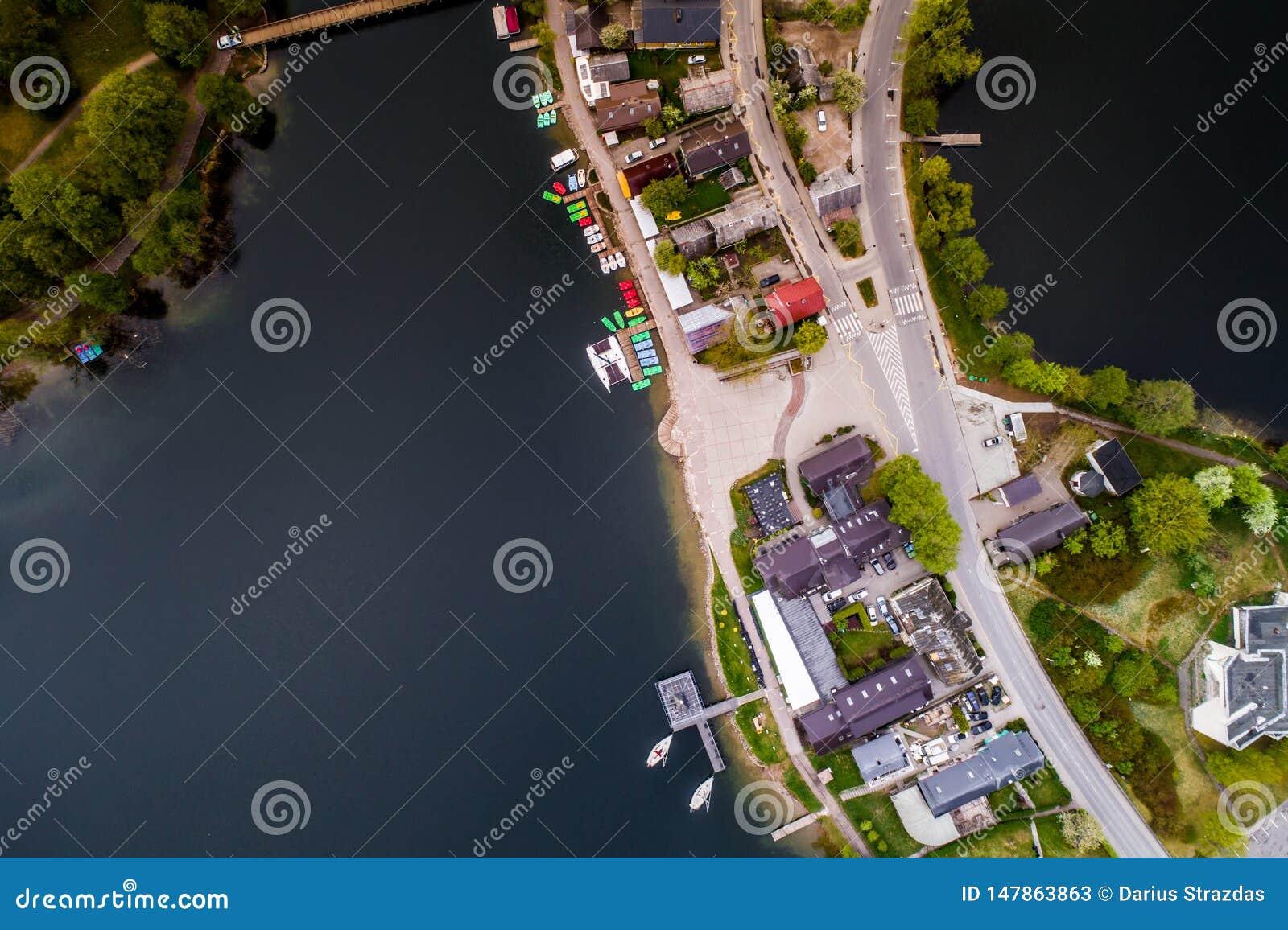 Πόλη και λίμνη, εναέριες