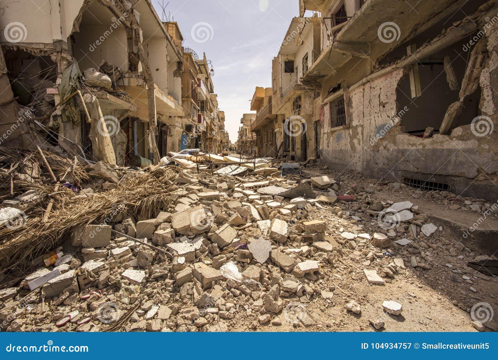 Πόλη κοντά σε Palmyra στη Συρία