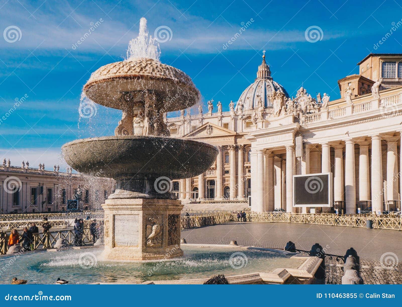 Πόλη του Βατικανού, Ρώμη, βασιλική Αγίου Peters στο τετράγωνο του ST Peter ` s