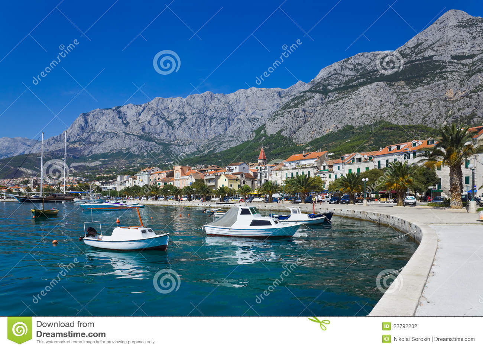 πόλη makarska της Κροατίας
