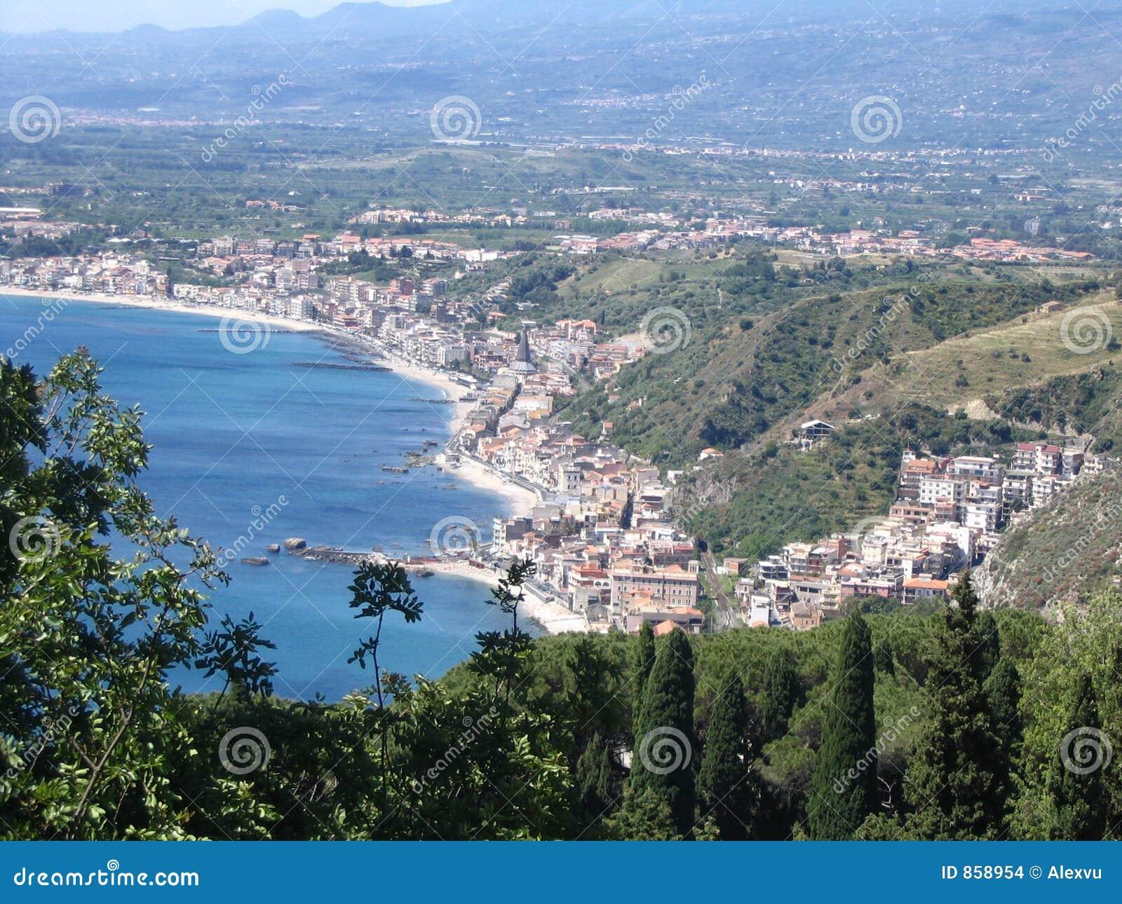 πόλη taormina της Σικελίας