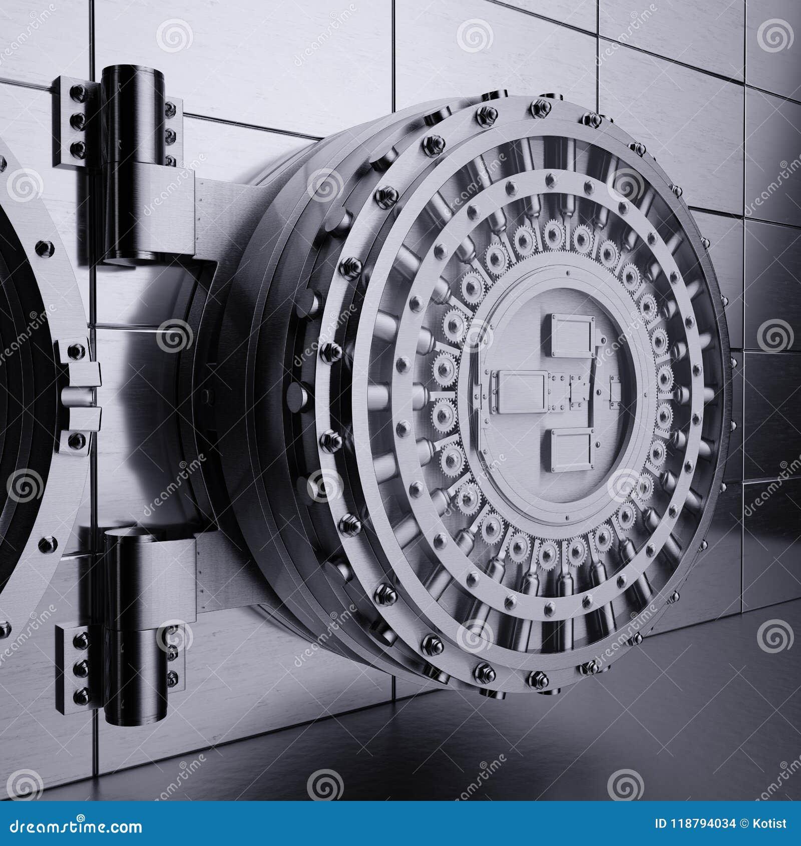 Πόρτα υπόγειων θαλάμων τράπεζας