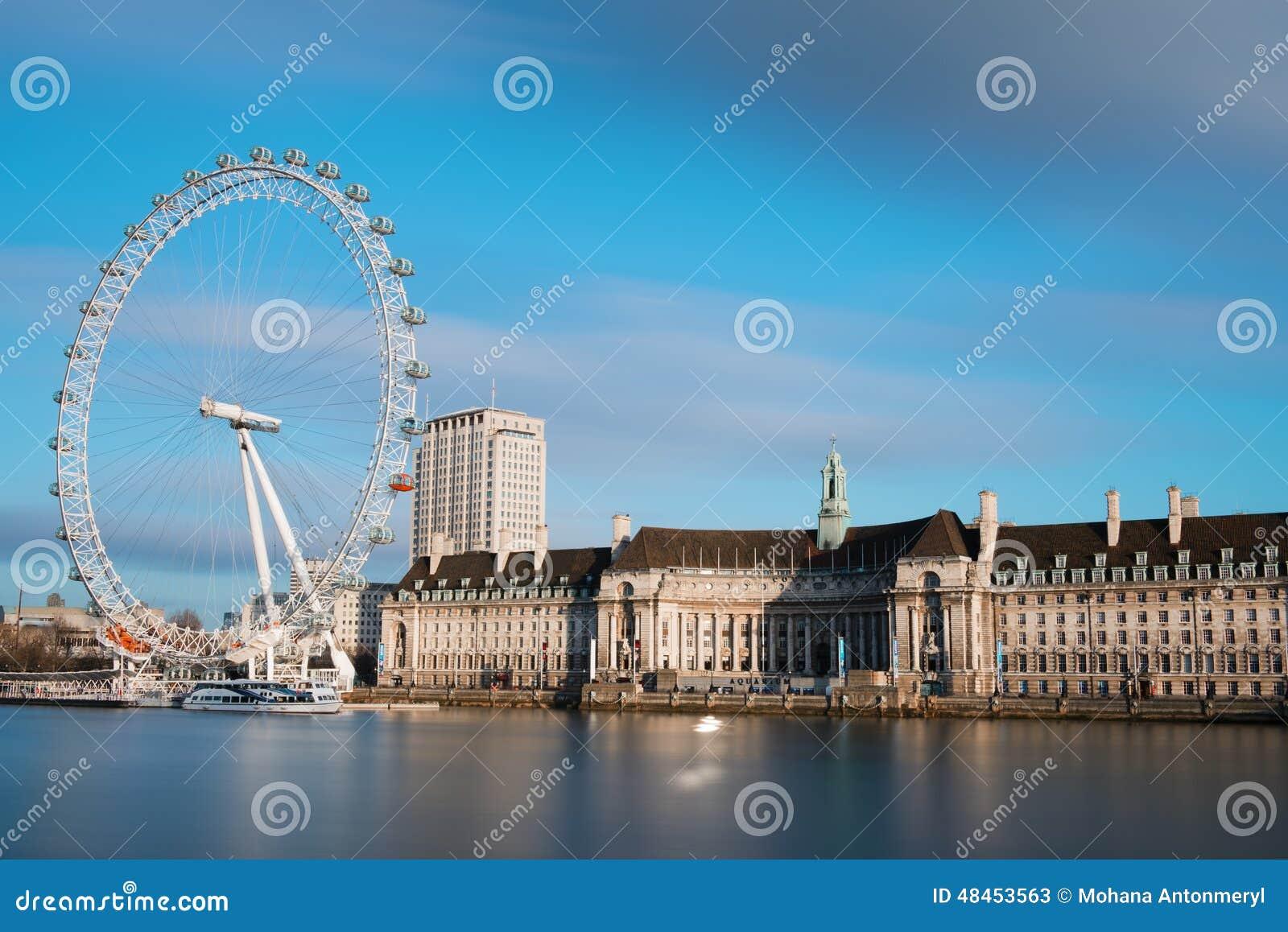 Πόλη του Λονδίνου με το μάτι του Λονδίνου