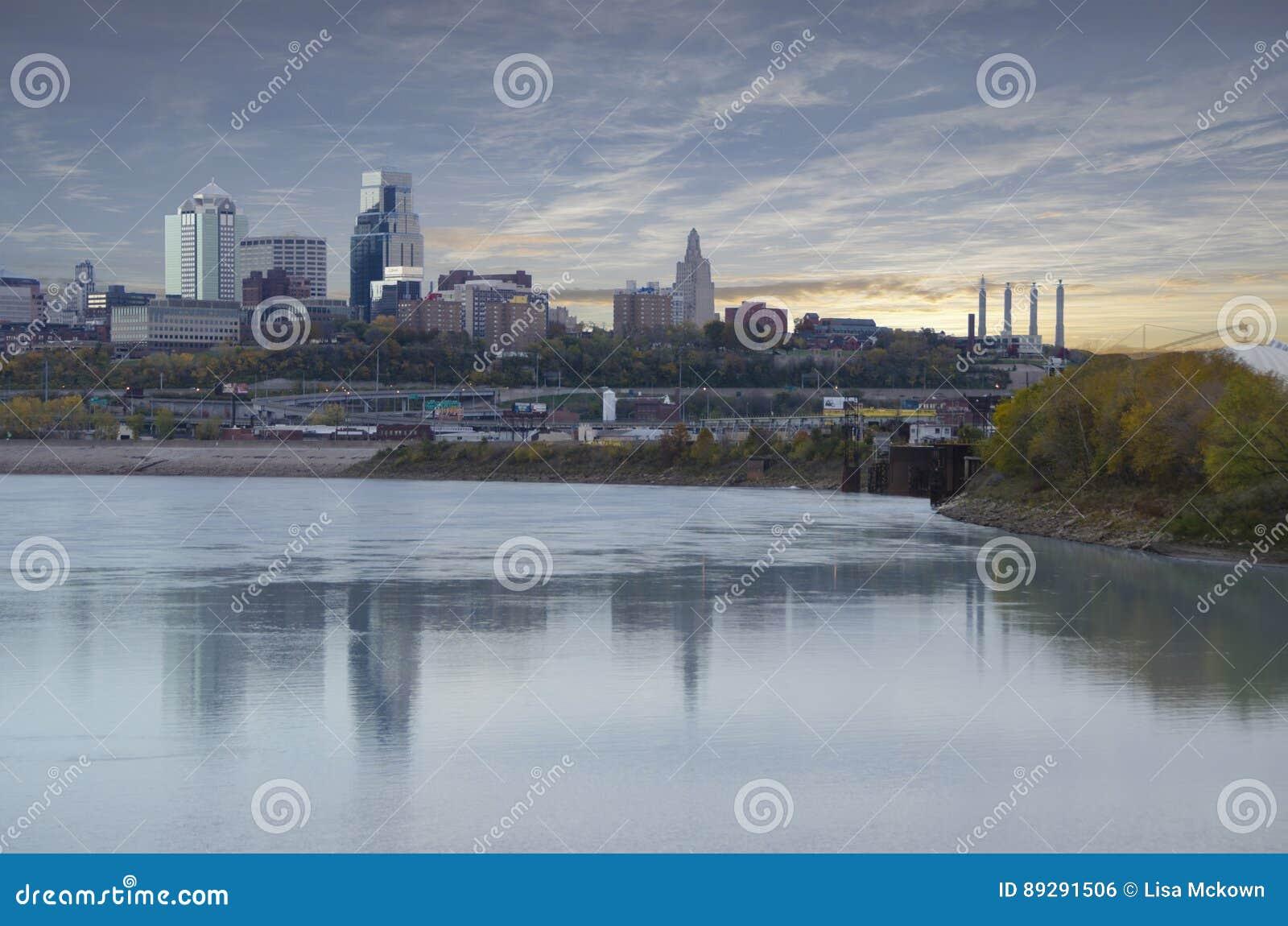 Πόλη του Μισσούρι πόλεων του Κάνσας scape