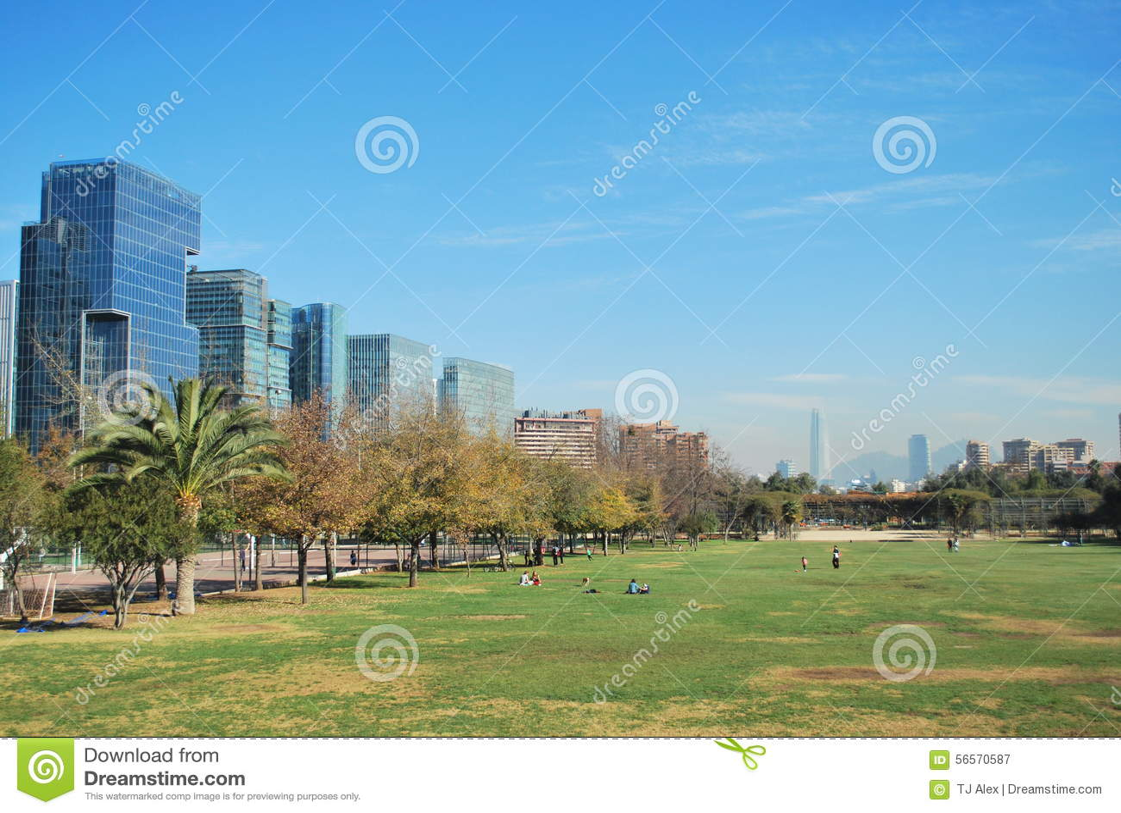 Download Πόλη του Σαντιάγο στη Χιλή στοκ εικόνα. εικόνα από δρόμοι - 56570587