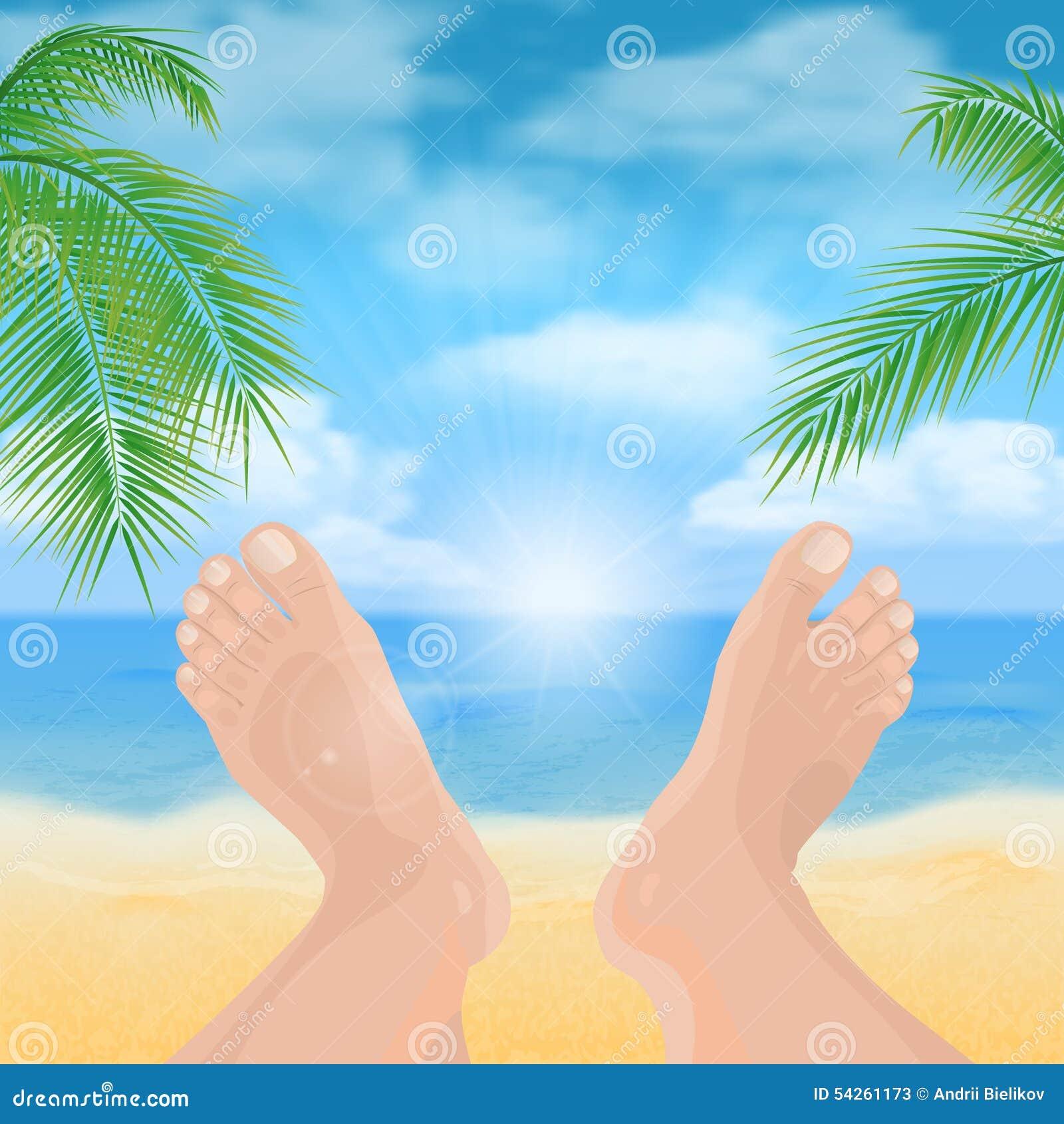 Πόδια στην παραλία