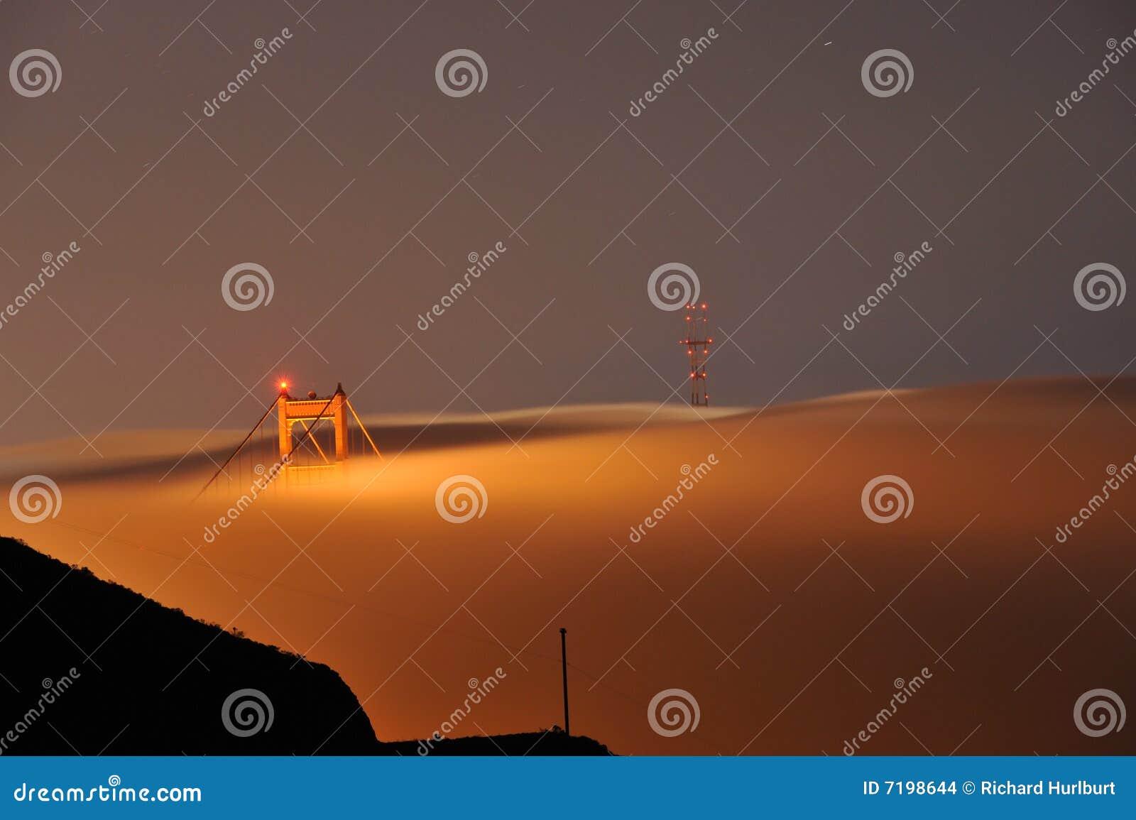 πύλη ομίχλης γεφυρών χρυσή