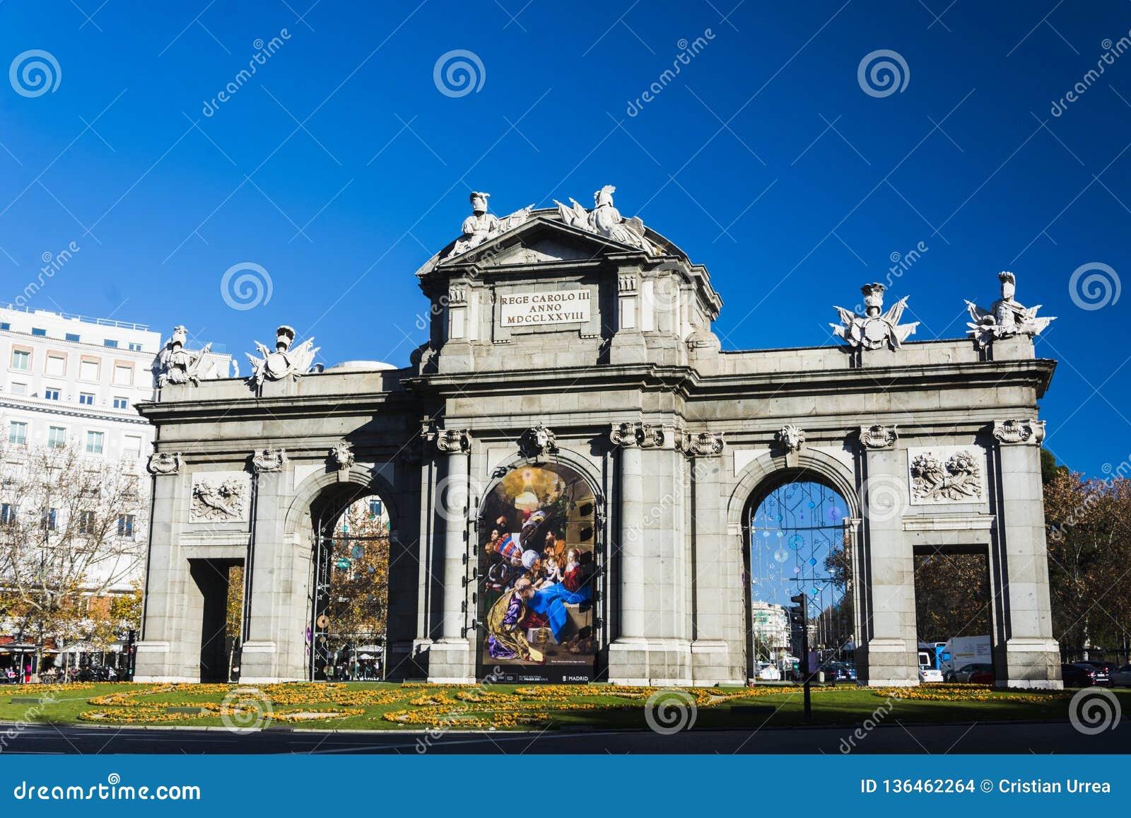 Πύλη Alcalà ¡ στη Μαδρίτη Ισπανία