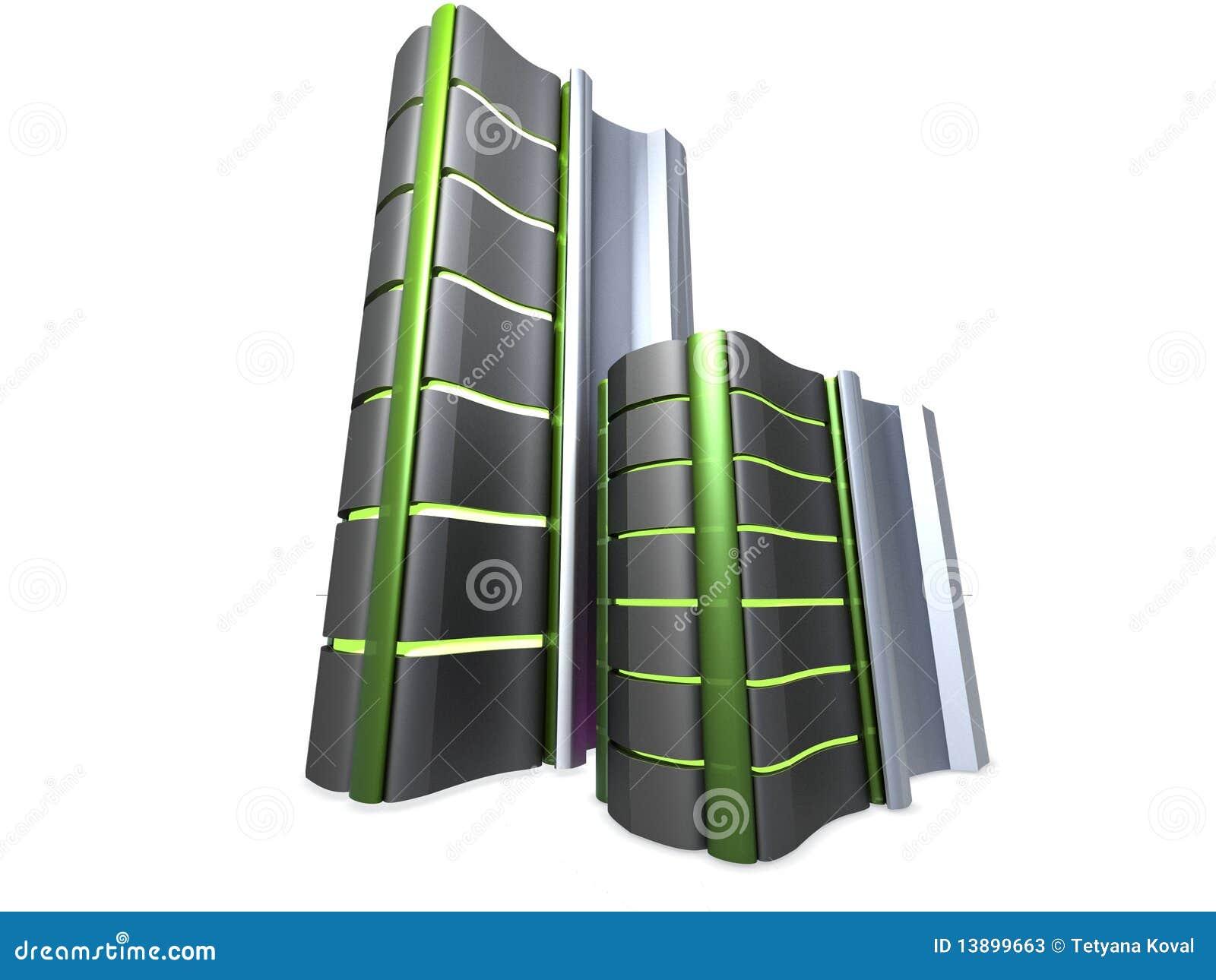 πύργοι κεντρικών υπολογ&i