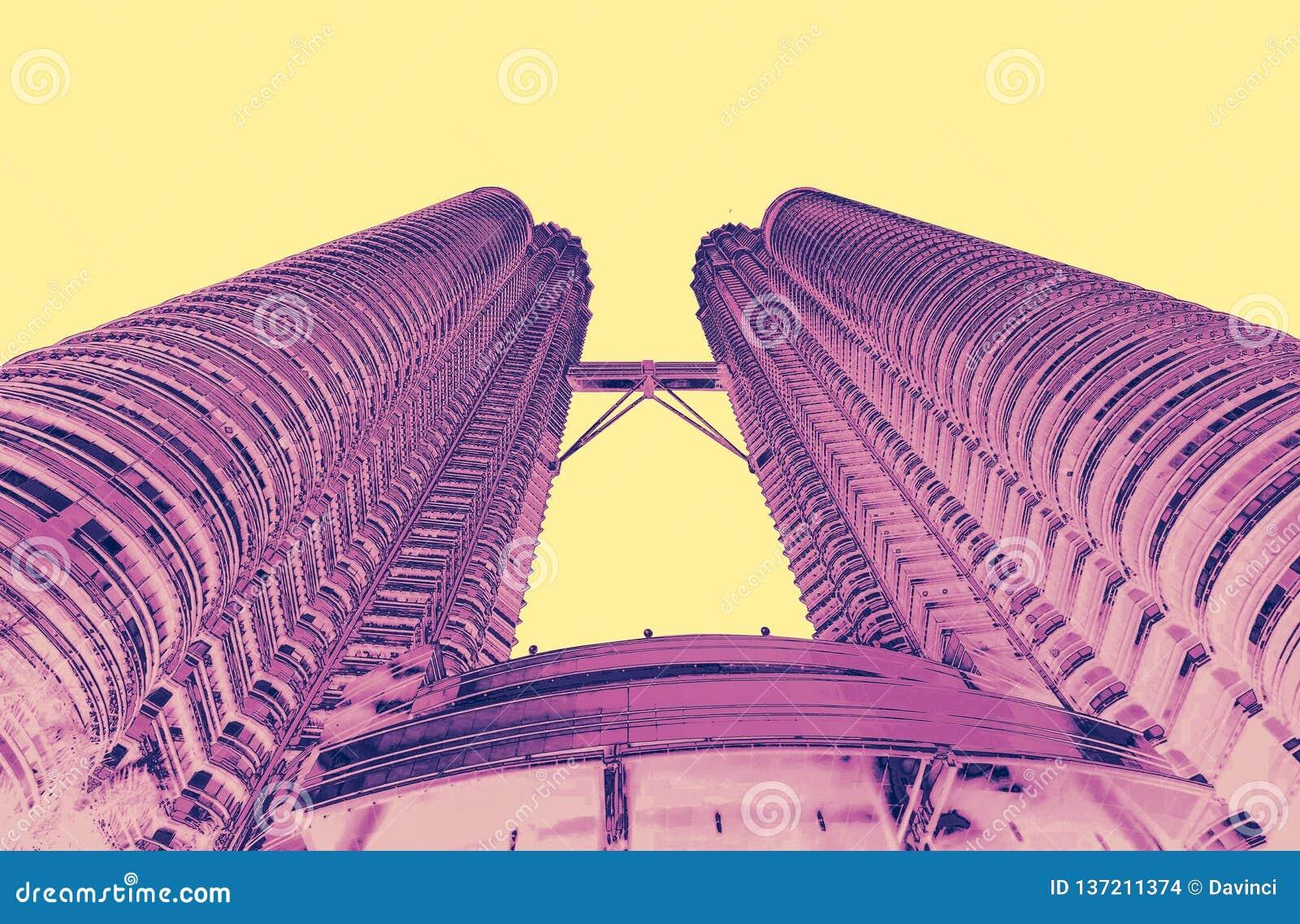 Πύργοι Petrona σε KL Μαλαισία σε φωτεινό