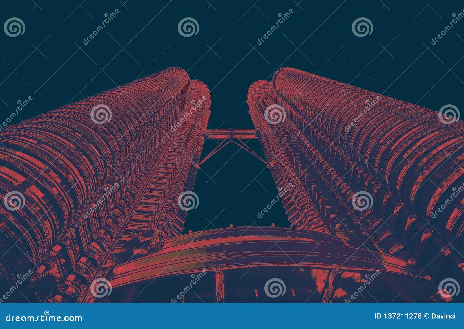 Πύργοι towersPetrona Petrona σε KL Μαλαισία ρ