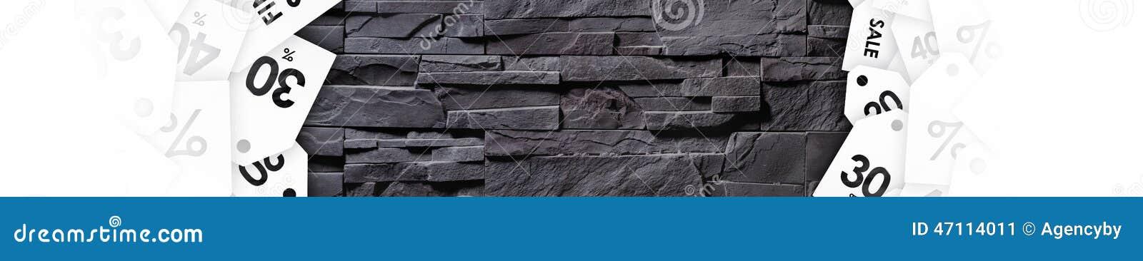 Πώληση εκκαθάρισης στη σύσταση του γκρίζου τοίχου πετρών