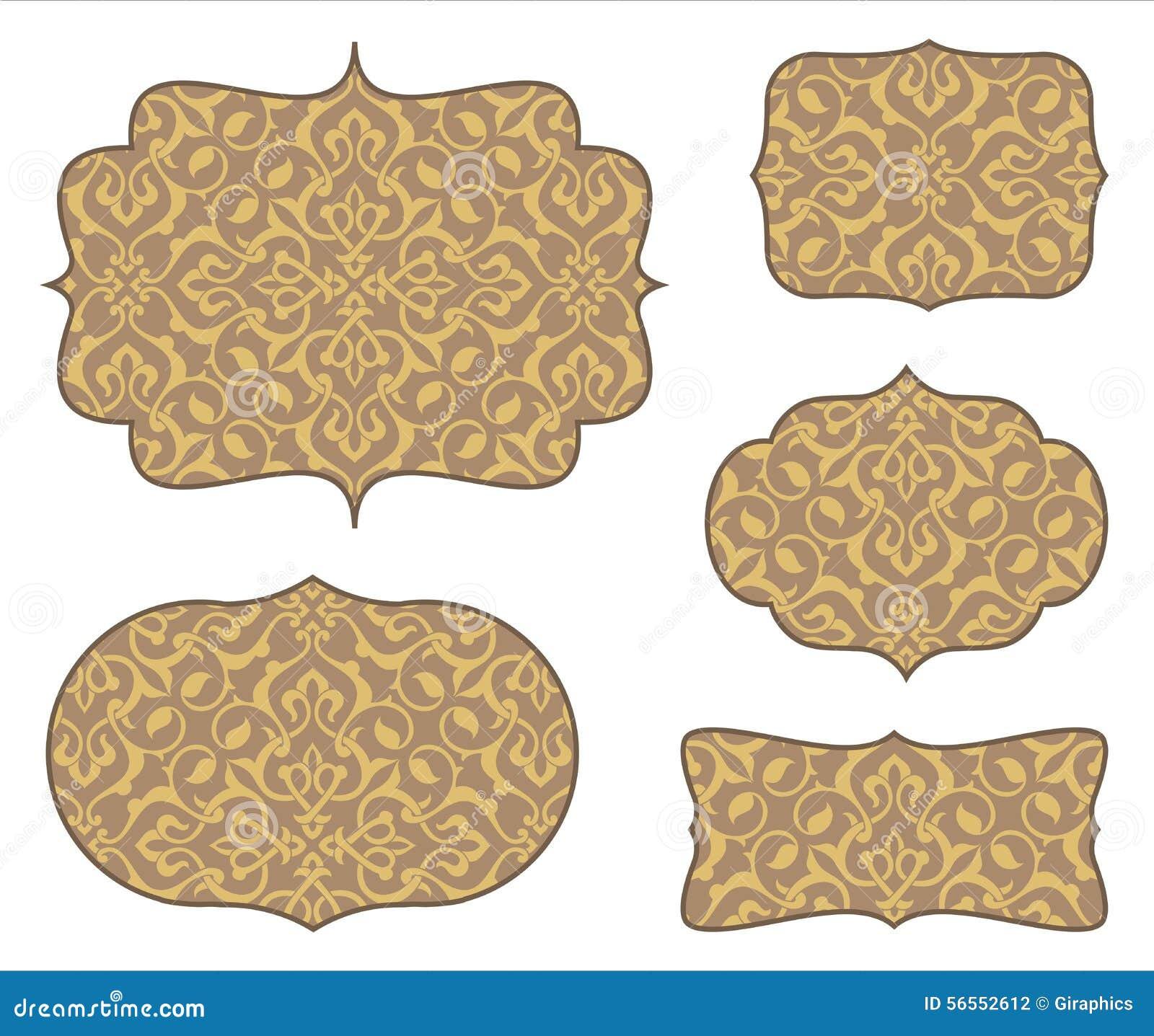 Download Πλαίσια Arabesque με το άνευ ραφής σχέδιο Διανυσματική απεικόνιση - εικονογραφία από αναδρομικός, διακόσμηση: 56552612