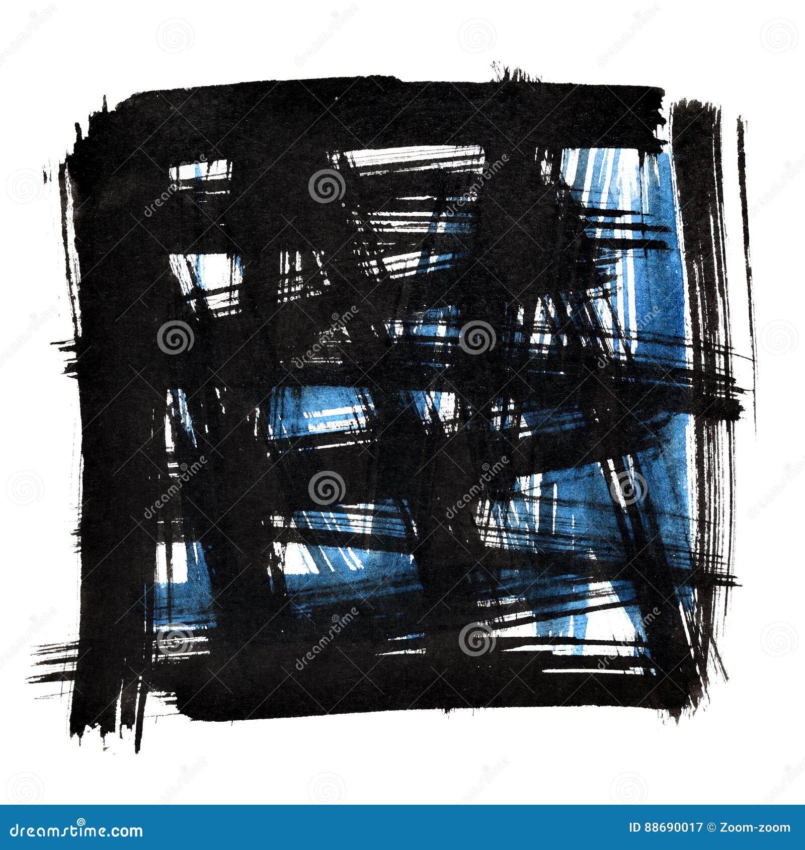 Πλαίσιο με τα κτυπήματα βουρτσών doodle