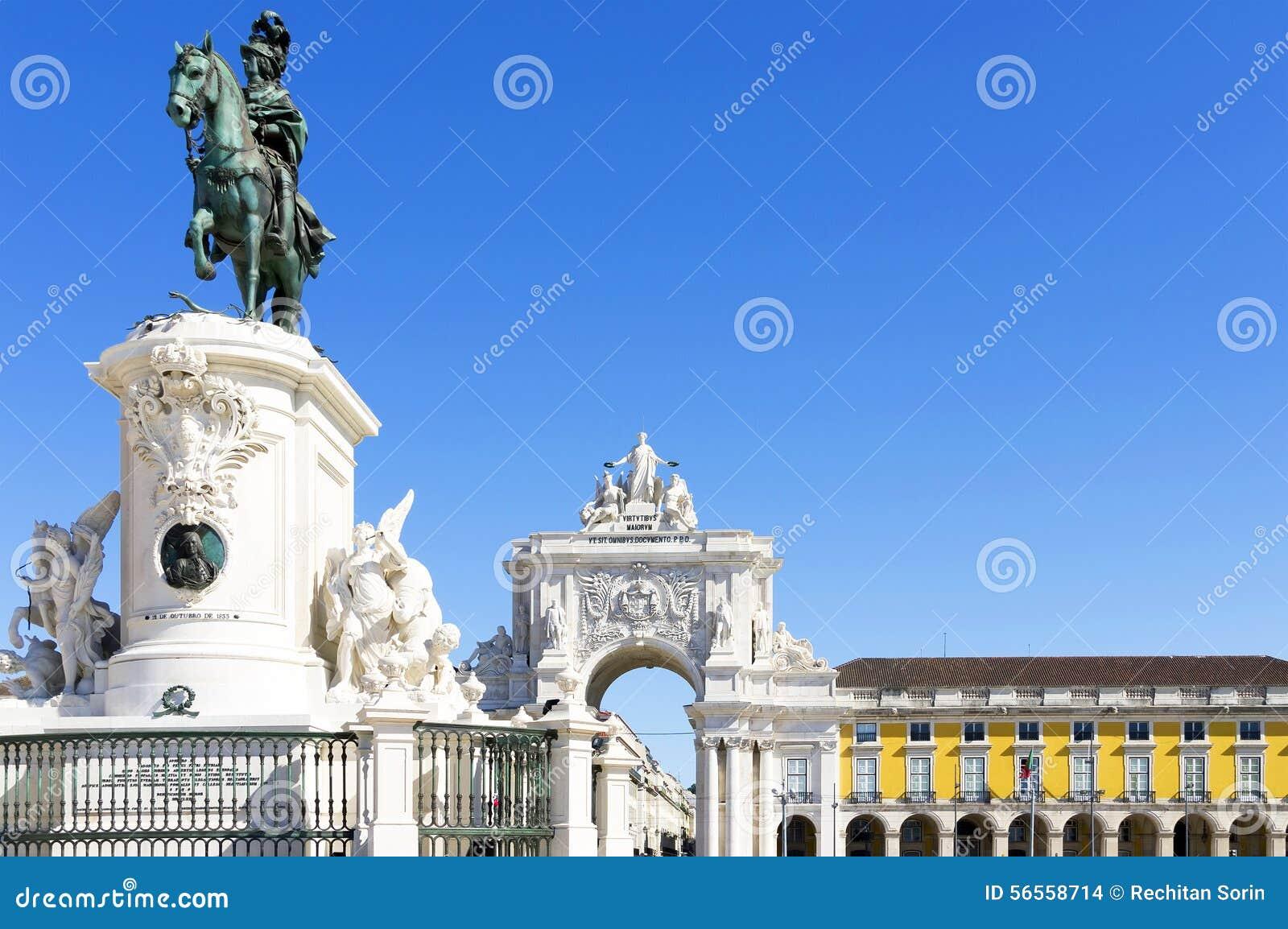 Download πλατεία της Λισσαβώνας &epsilo Στοκ Εικόνες - εικόνα από ευρώπη, ιβηρικά: 56558714