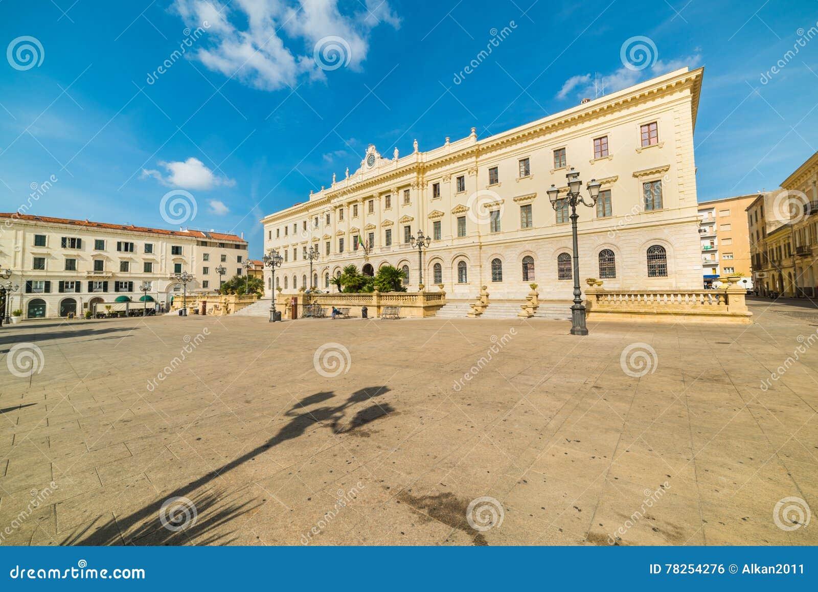Πλατεία d& x27 Ιταλία σε Sassari μια σαφή ημέρα