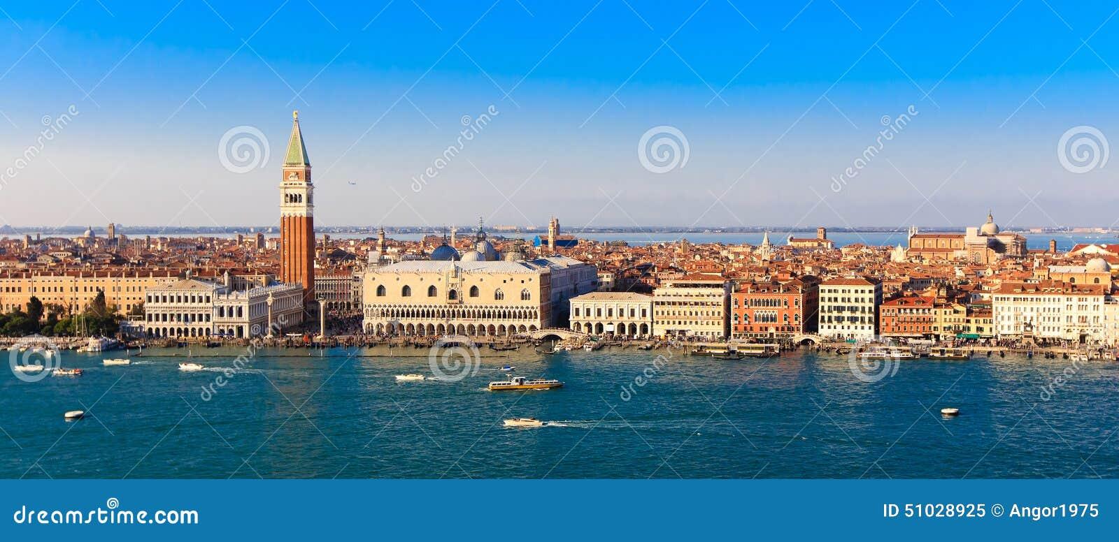 Πλατεία SAN Marco στη Βενετία, άποψη πανοράματος από την κορυφή