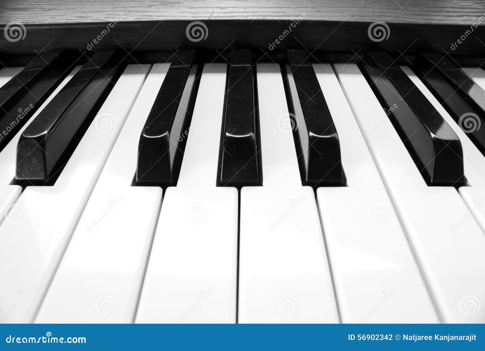 Πληκτρολόγιο πιάνων κινηματογραφήσεων σε πρώτο πλάνο