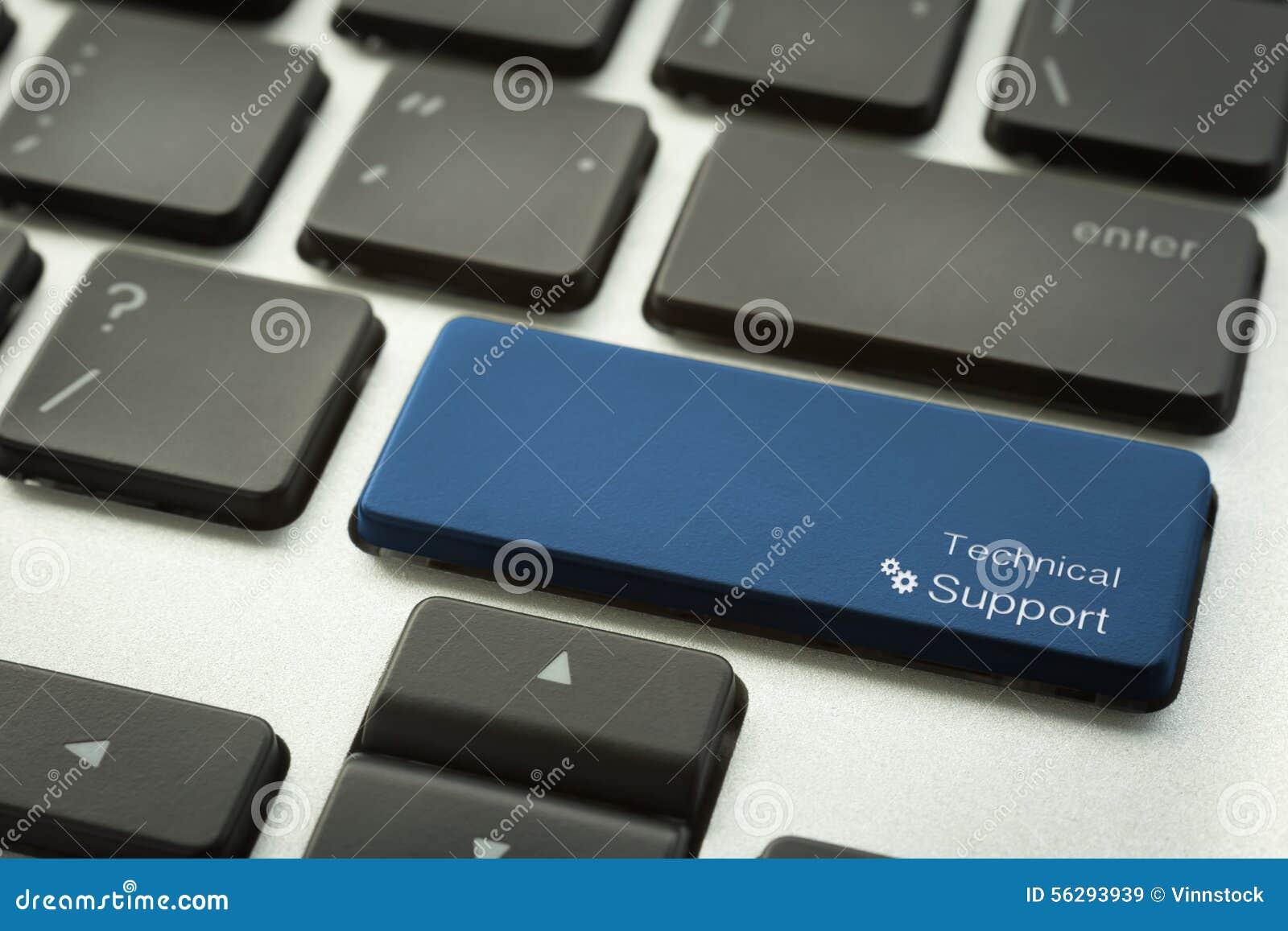 Πληκτρολόγιο υπολογιστών με το τυπογραφικό κουμπί ΤΕΧΝΙΚΉΣ ΥΠΟΣΤΉΡΙΞΗΣ
