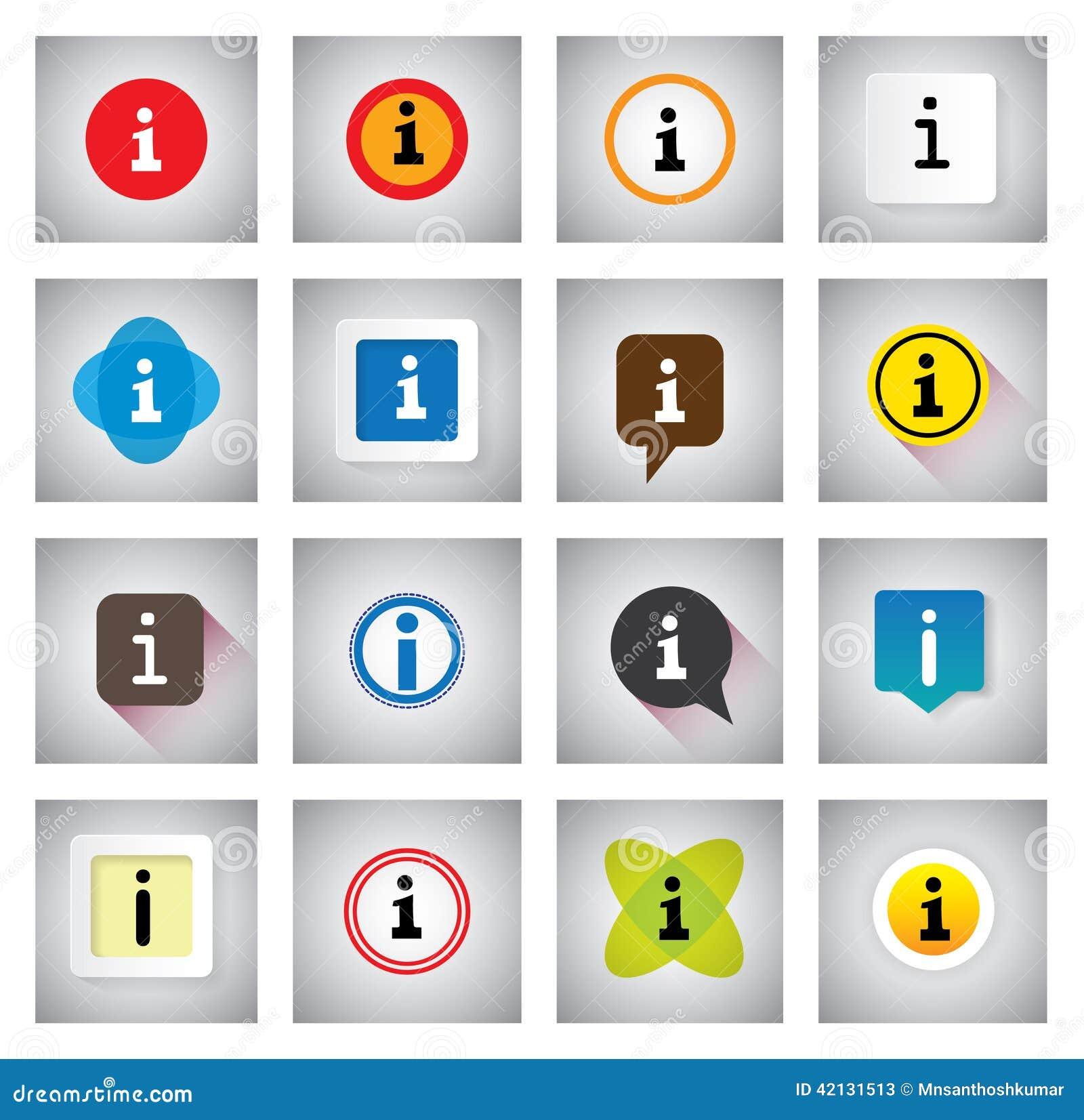 Πληροφορίες ή διανυσματικά εικονίδια πληροφοριών καθορισμένα στις λεκτικές φυσαλίδες ή τη συνομιλία s