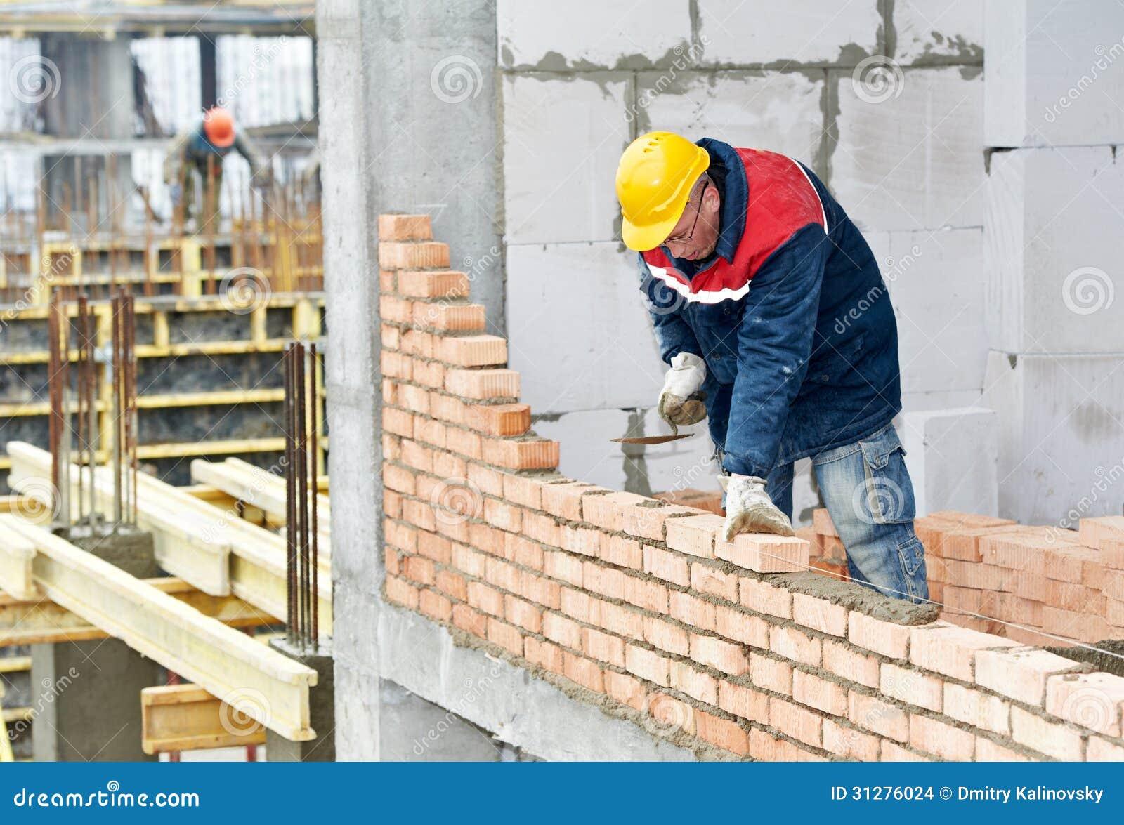 Πλινθοκτίστης εργαζομένων κτιστών κατασκευής